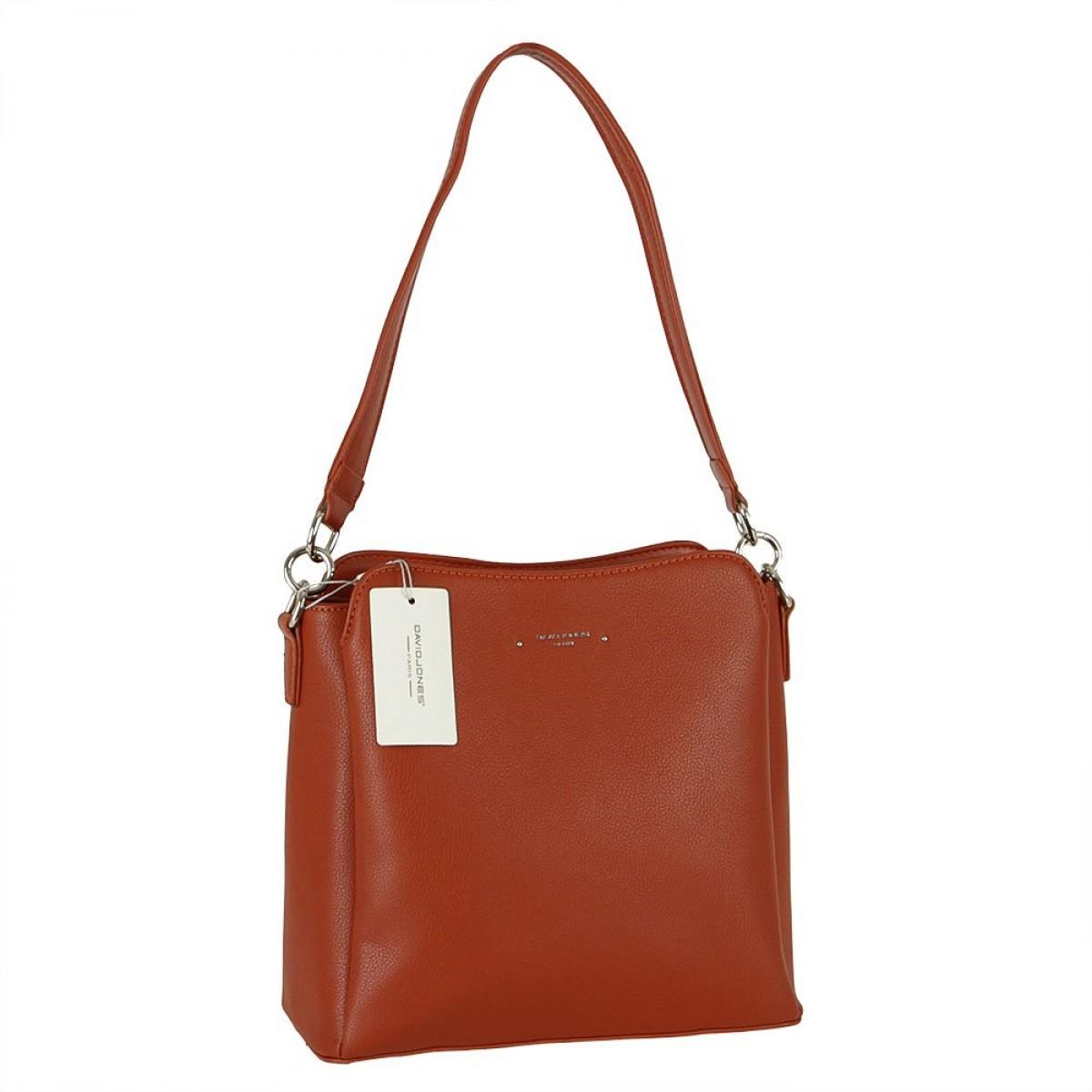 Жіноча сумка David Jones 6417-2A COGNAC