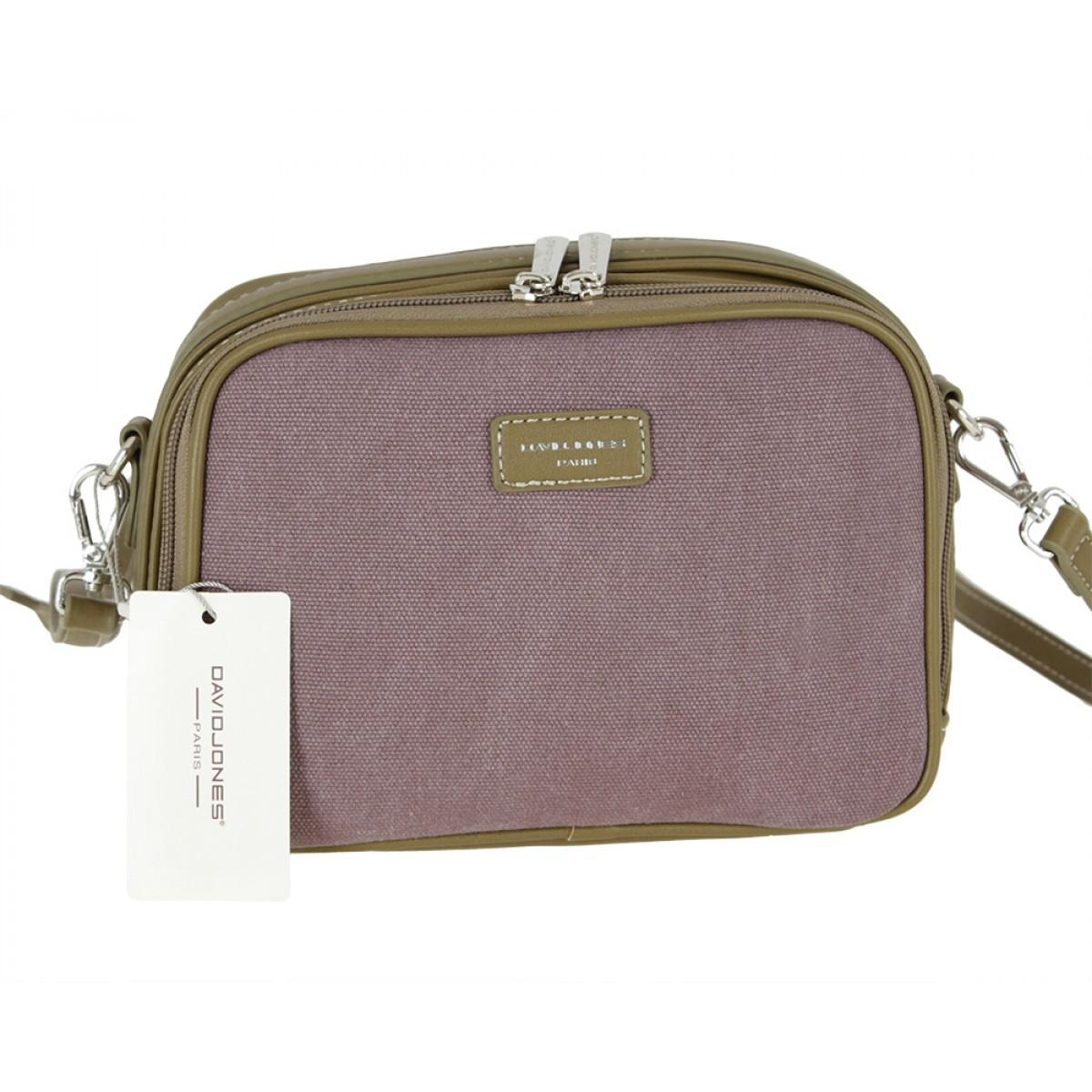 Жіноча сумка David Jones 5758-2 PURPLE / KHAKI