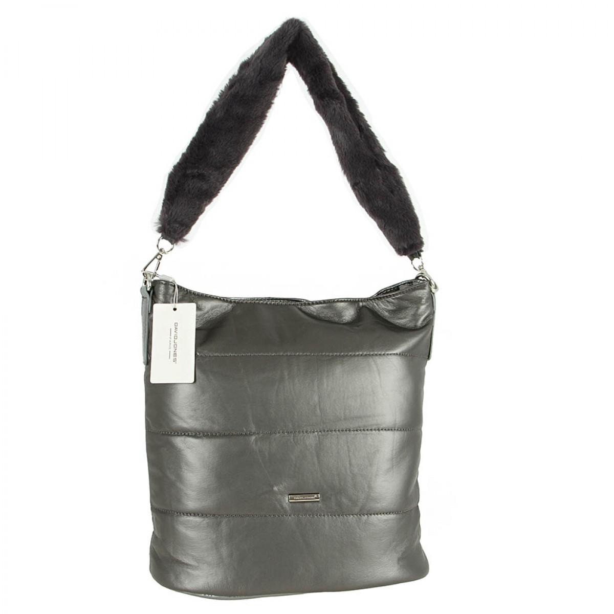 Жіноча сумка David Jones 5857-1 SILVERY GREY
