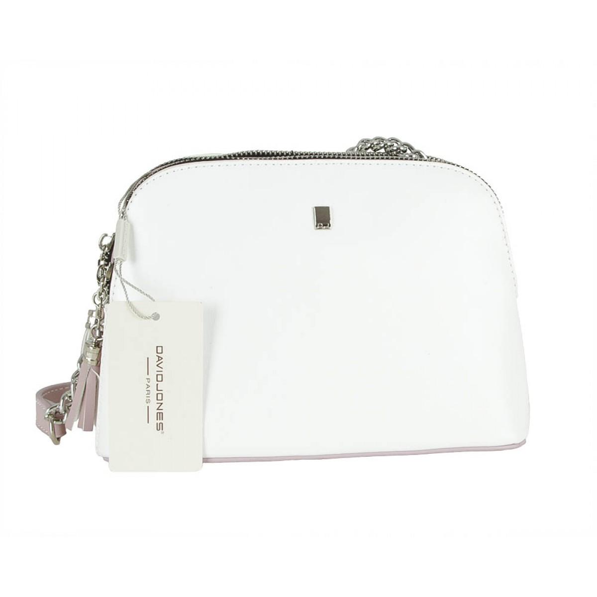 Жіноча сумка David Jones 5907-2 WHITE/PALE PURPLE