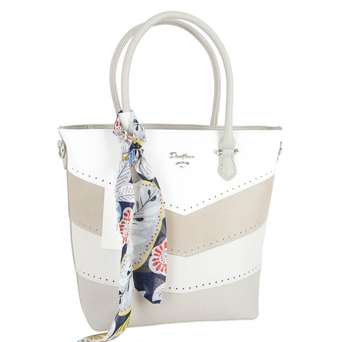 Жіноча сумка David Jones 5926-4 CREAMY GREY