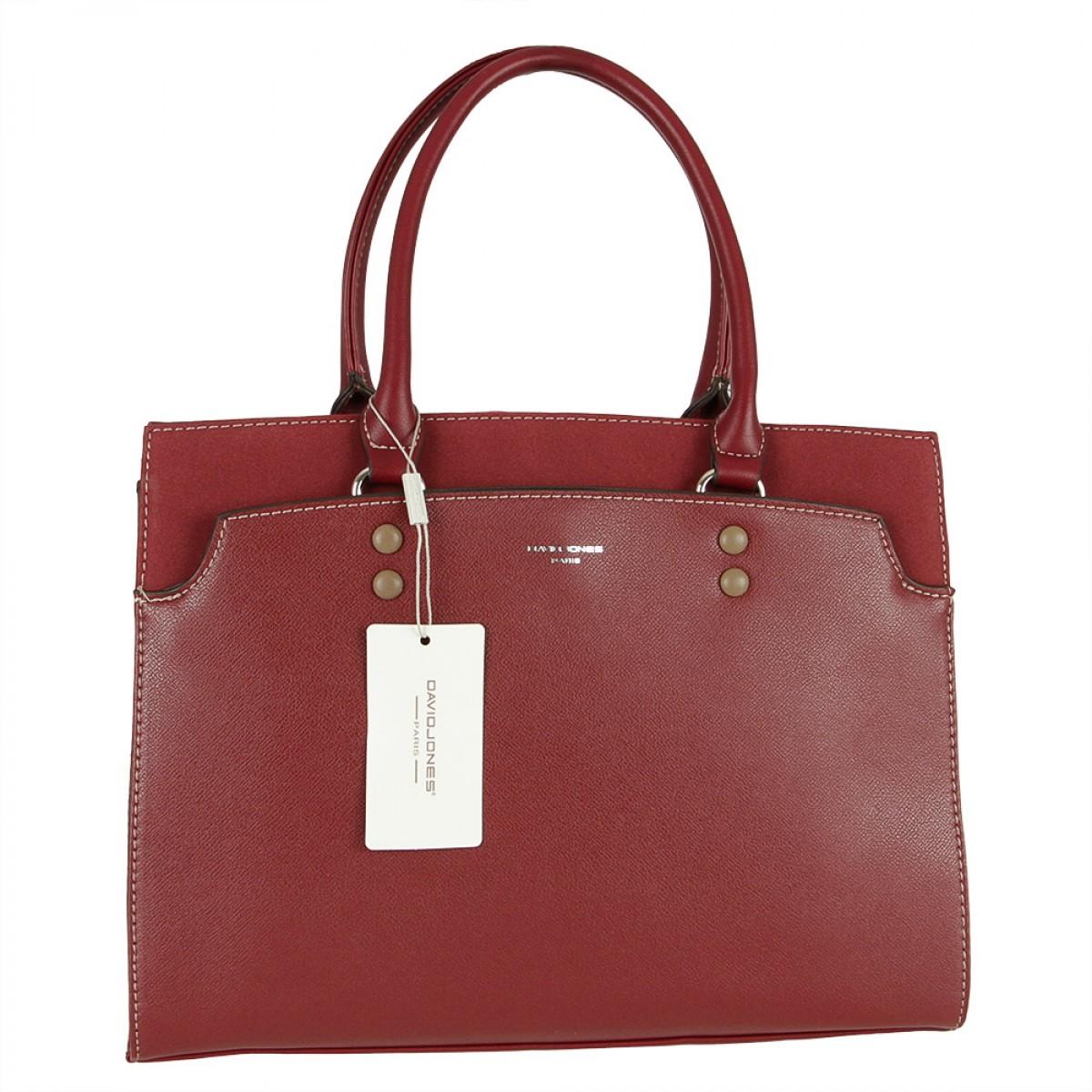 Жіноча сумка David Jones 6127-2 DARK BORDEAUX