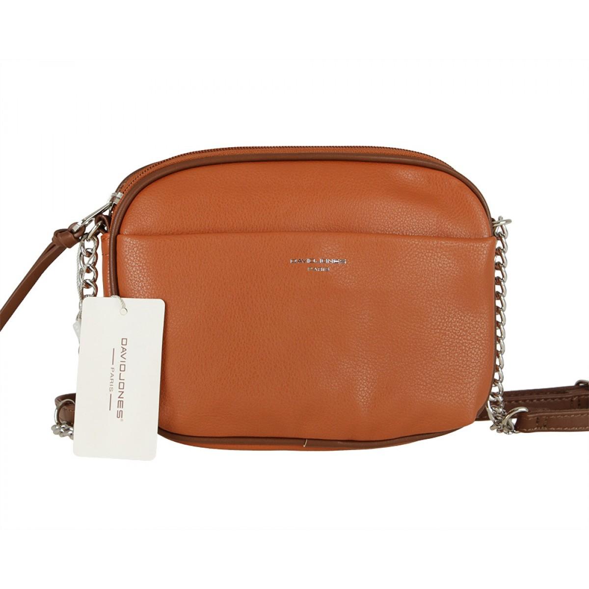 Жіноча сумка David Jones 6129-1 COGNAC