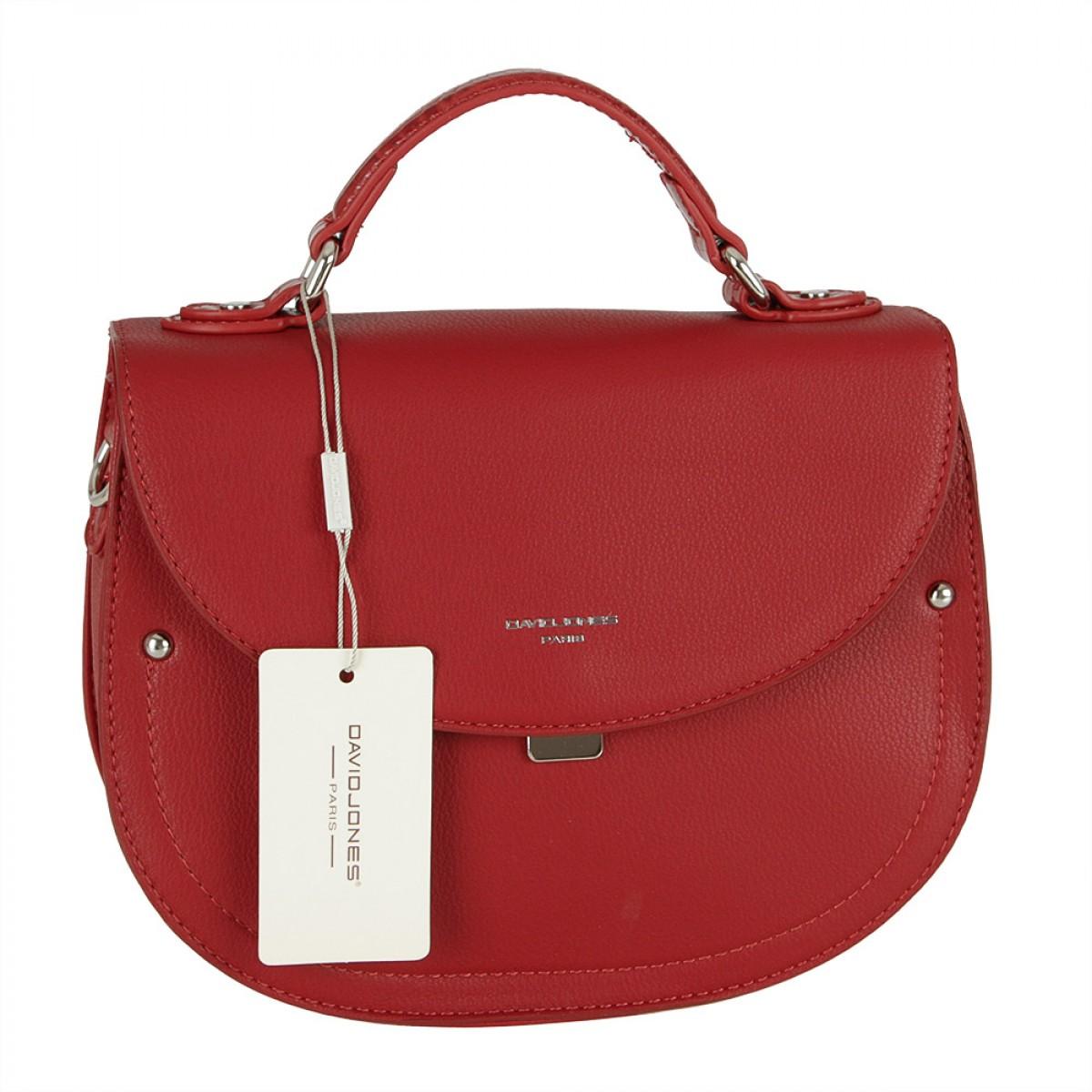 Жіноча сумка David Jones 6135-2 DARK RED