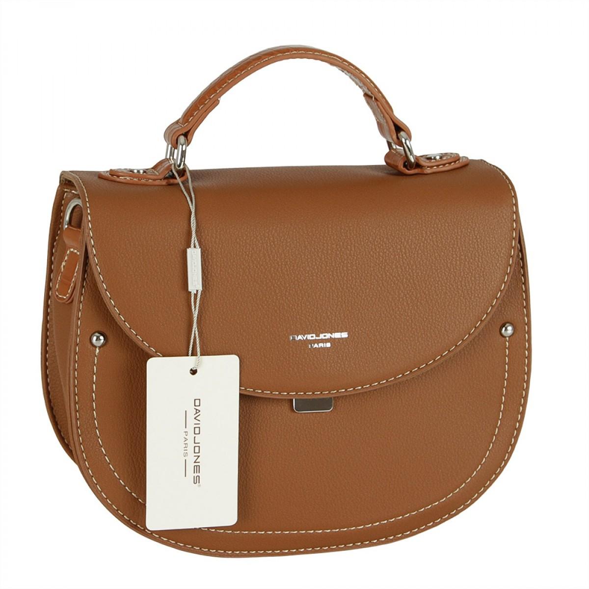 Жіноча сумка David Jones 6135-2 COGNAC