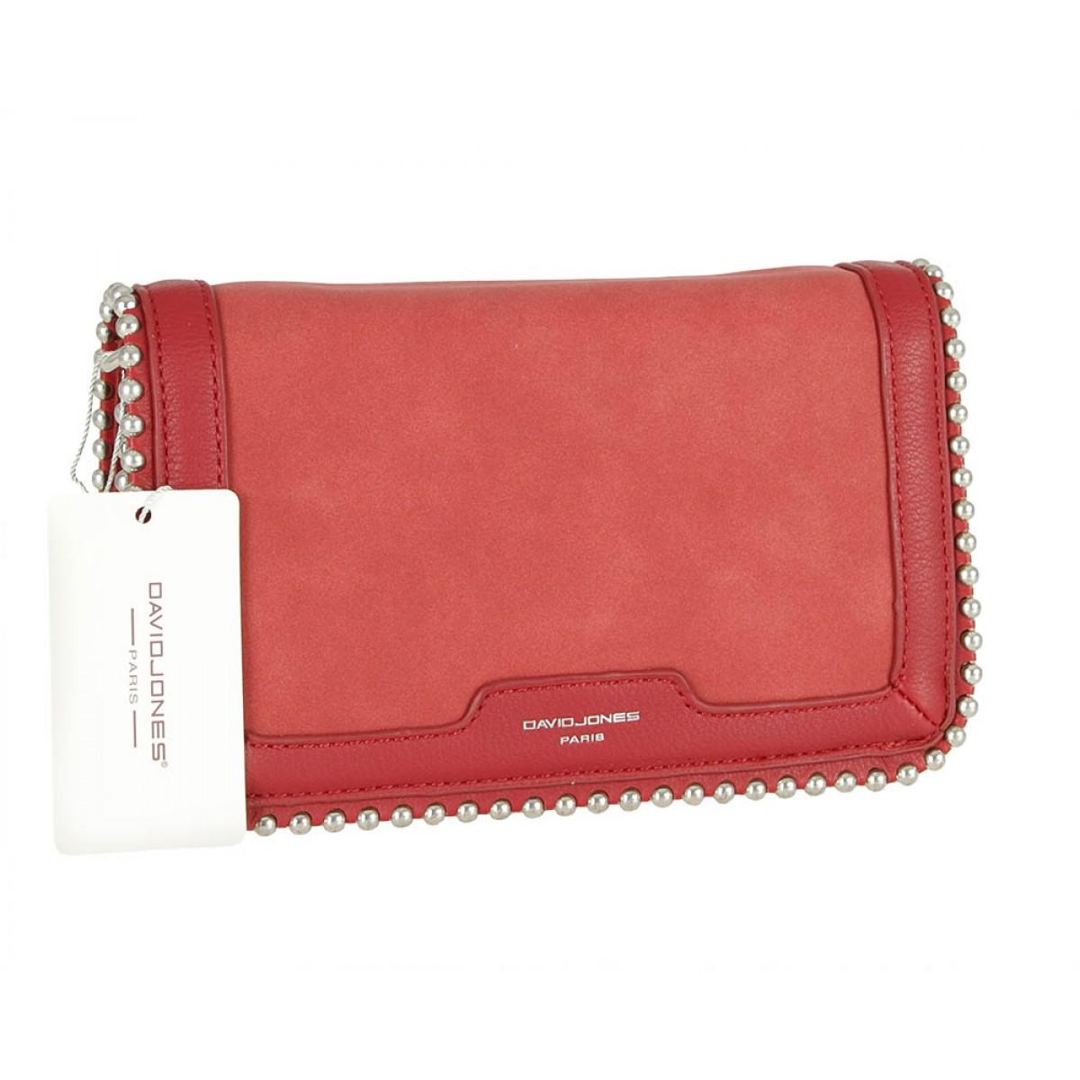 Жіноча сумка David Jones 6165-2 DARK RED