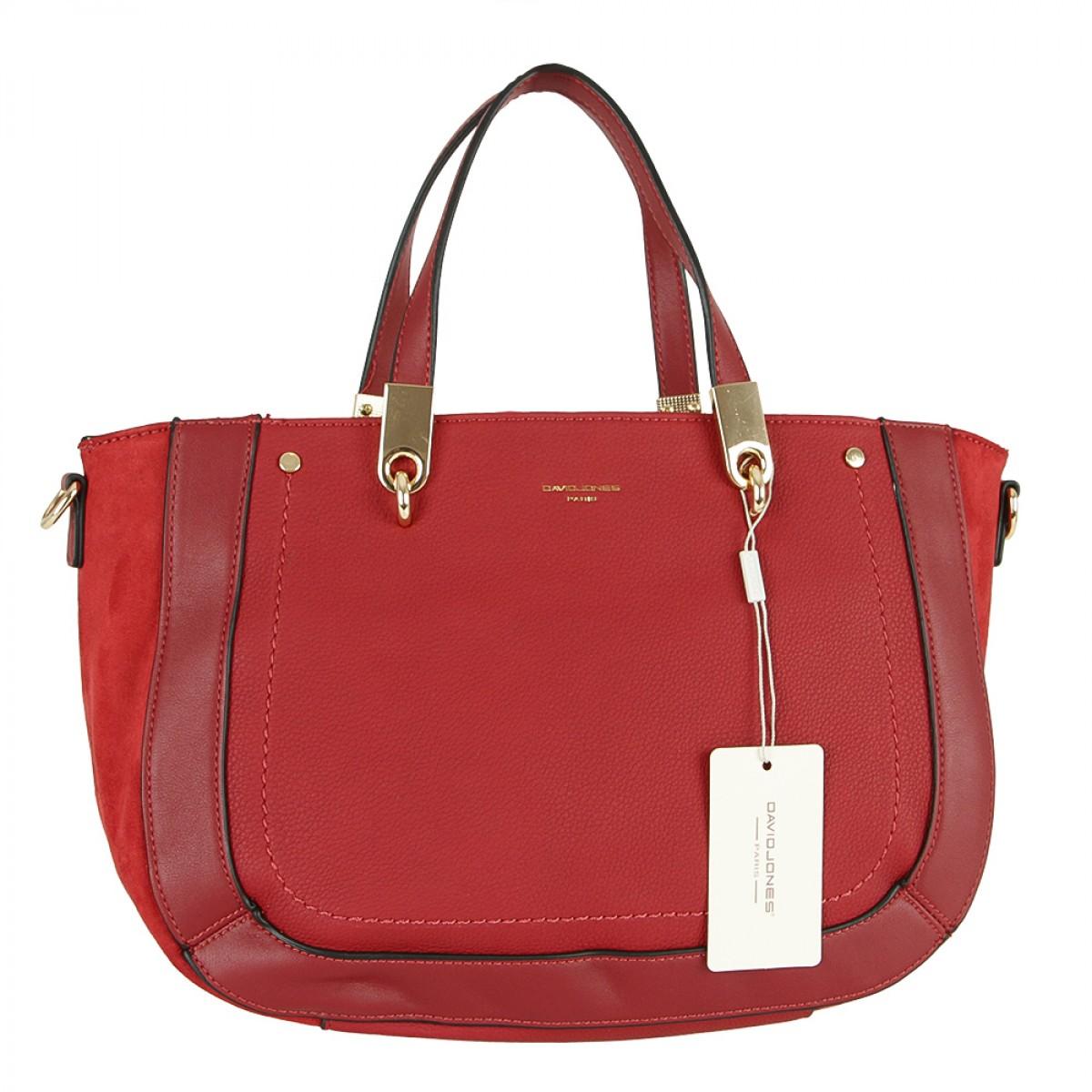 Жіноча сумка David Jones 6168-2 DARK RED