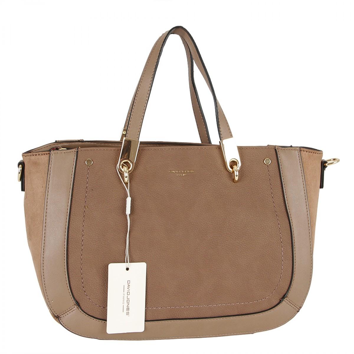 Жіноча сумка David Jones 6168-2 TAUPE