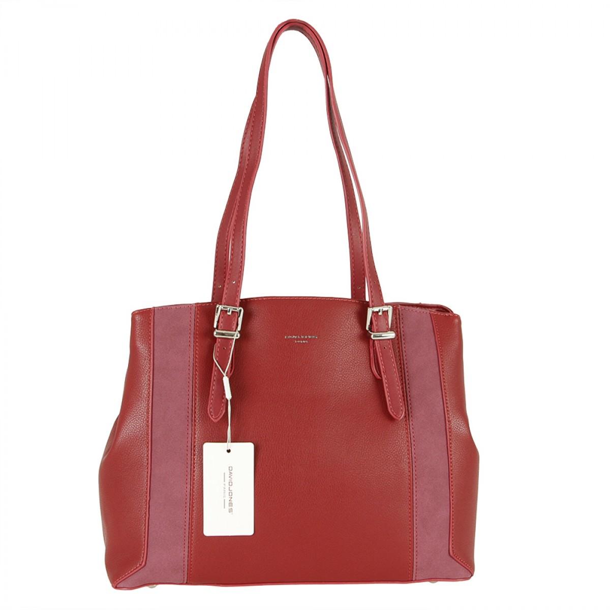 Жіноча сумка David Jones 6175-2 DARK RED
