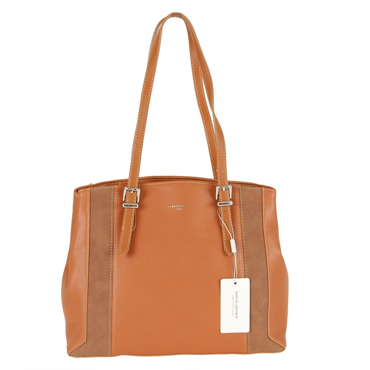 Жіноча сумка David Jones 6175-2 COGNAC