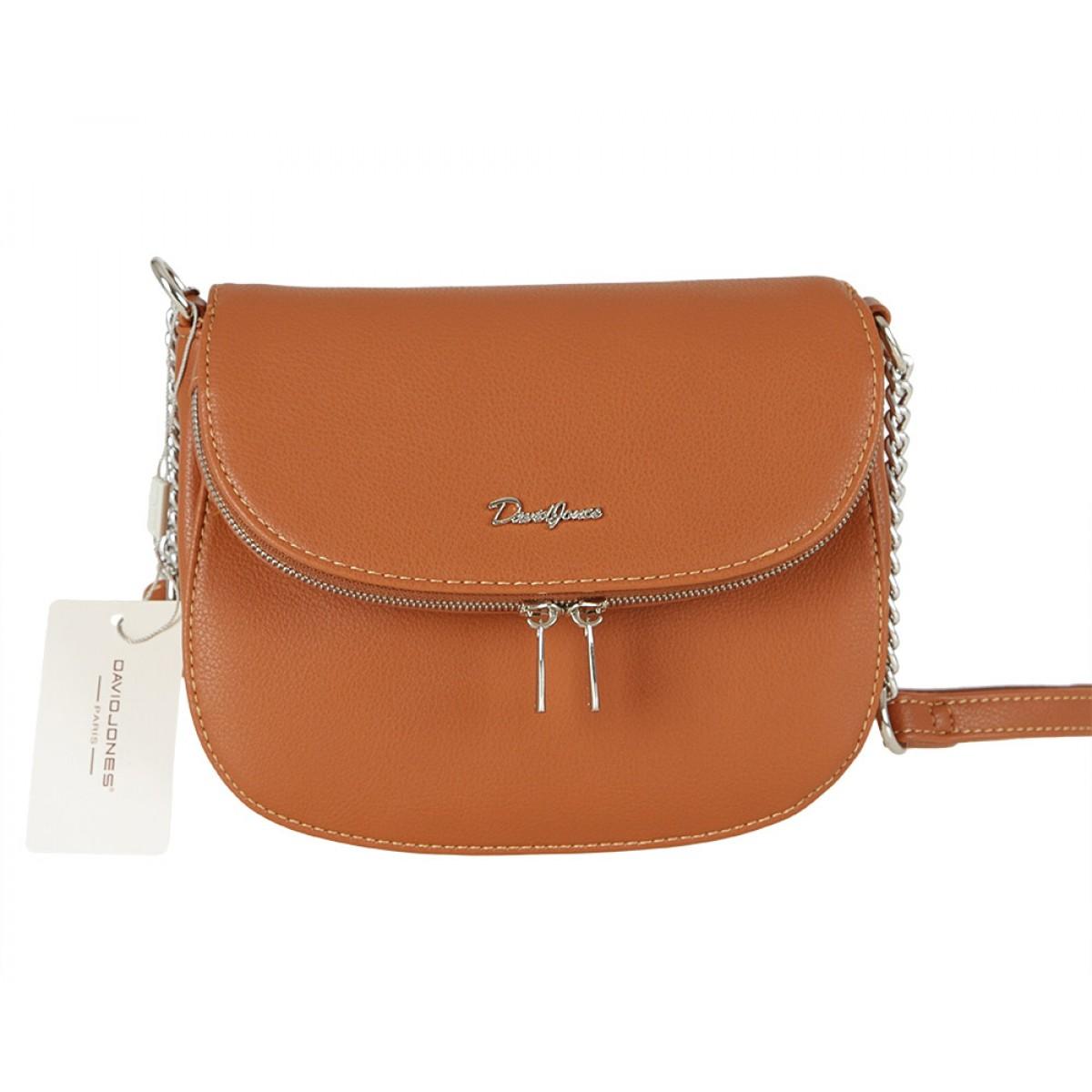 Жіноча сумка David Jones 6200-1A COGNAC