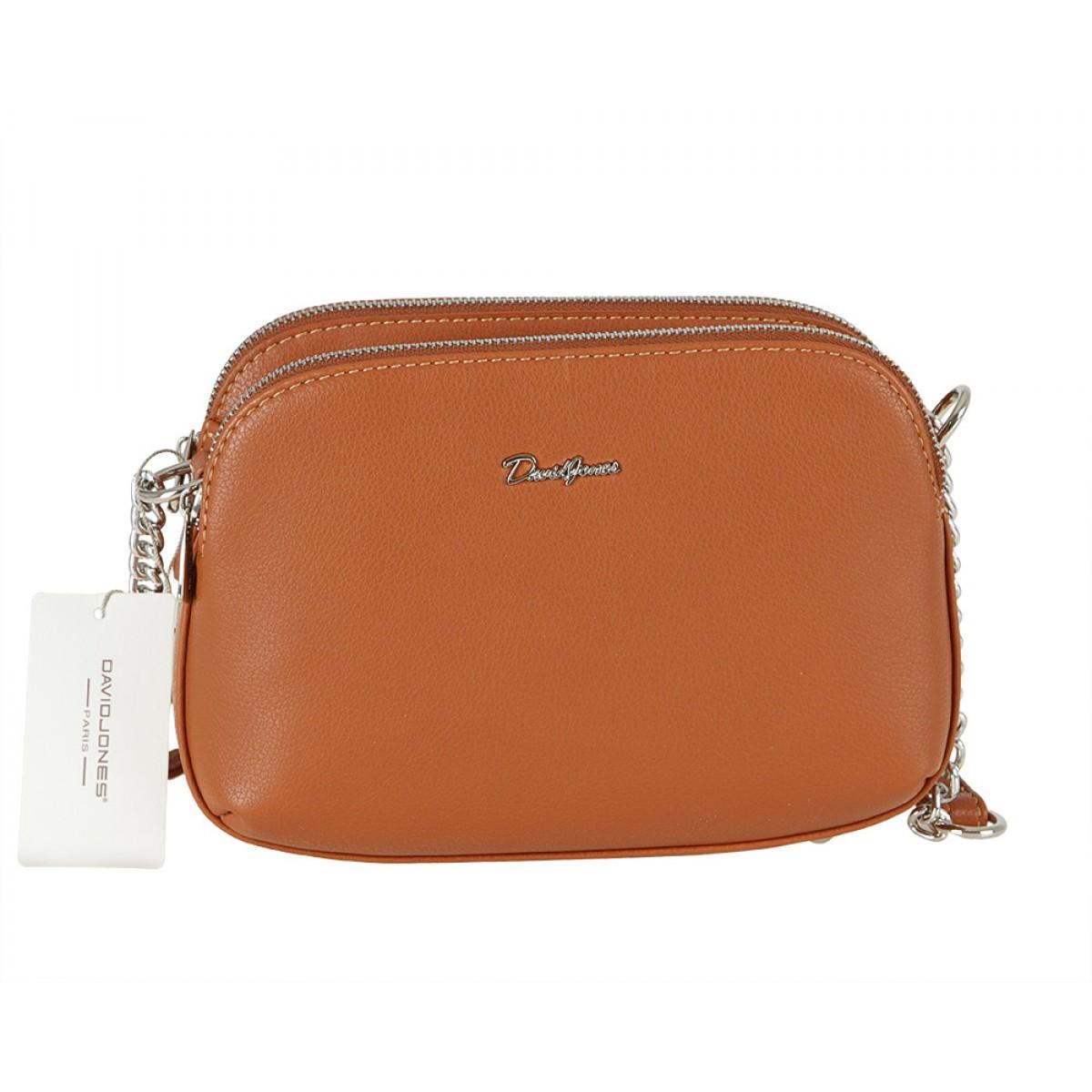 Жіноча сумка David Jones 6200-2A COGNAC