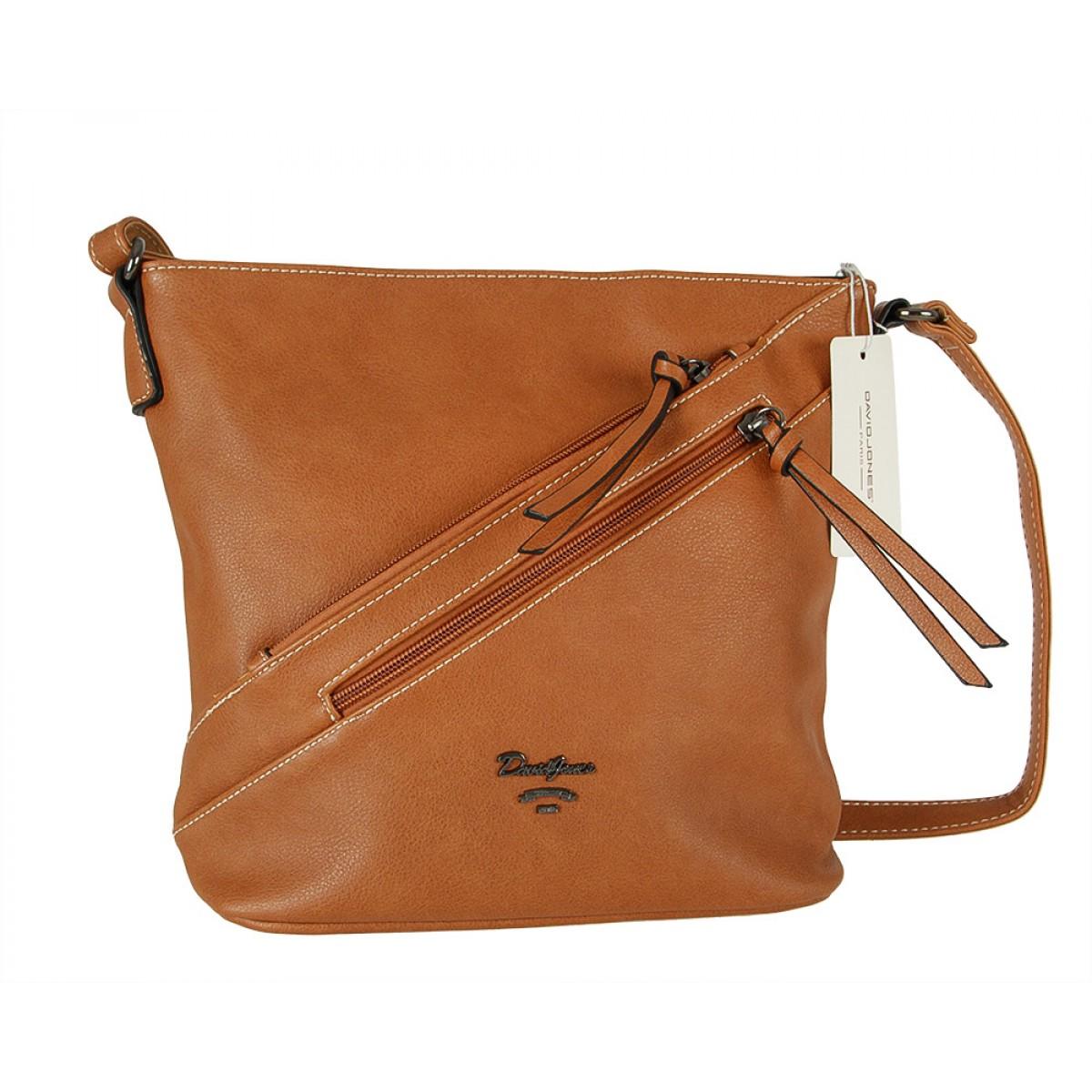Жіноча сумка David Jones 6202-2A COGNAC