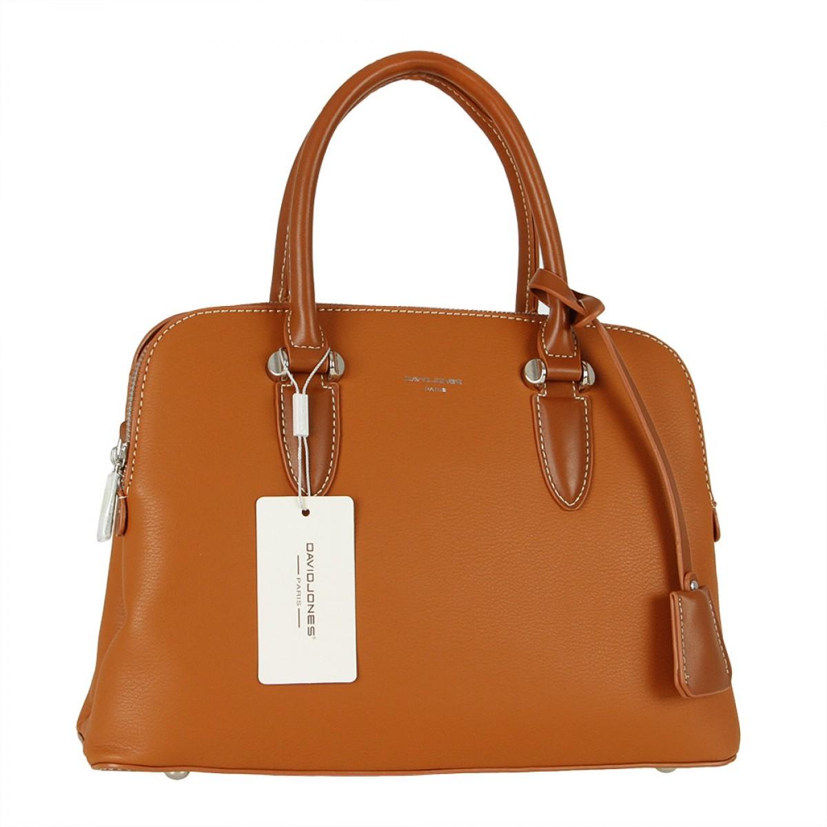Жіноча сумка David Jones  6207-1A COGNAC