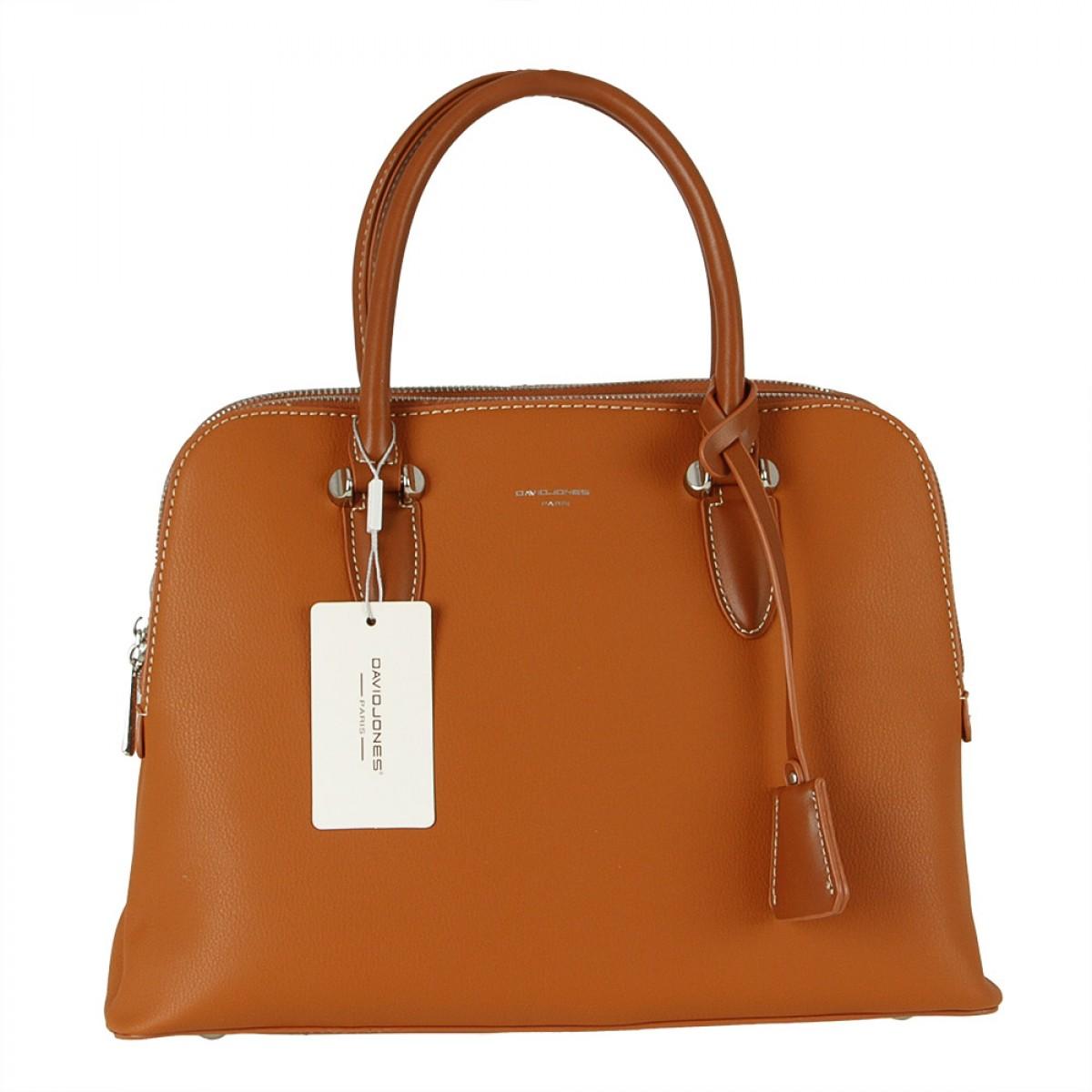Жіноча сумка David Jones  6207-2A COGNAC