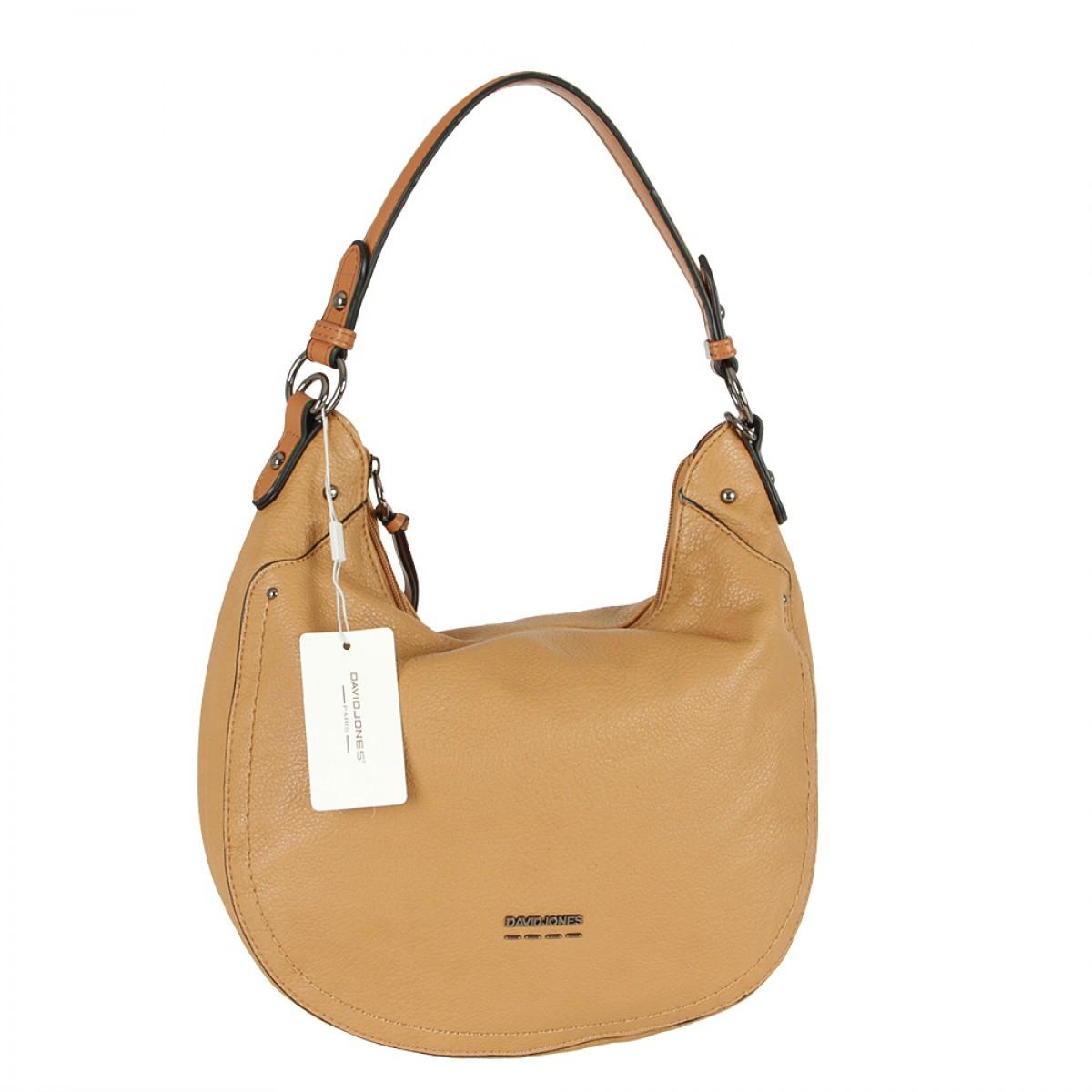 Жіноча сумка David Jones 6210-1 COGNAC