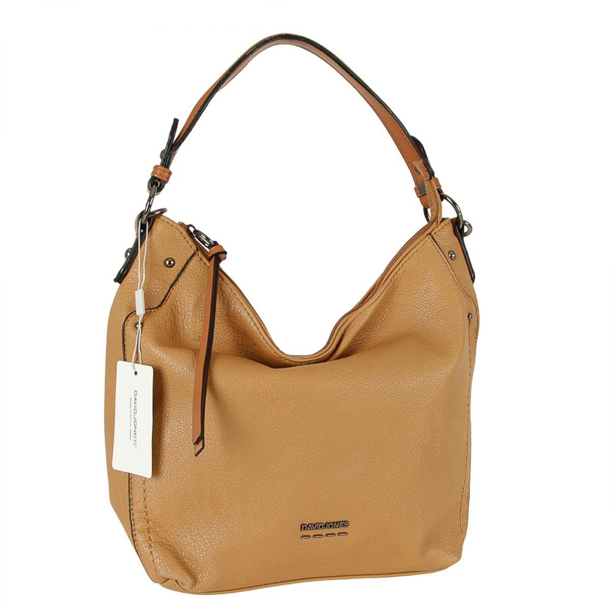Жіноча сумка David Jones 6210-2 COGNAC