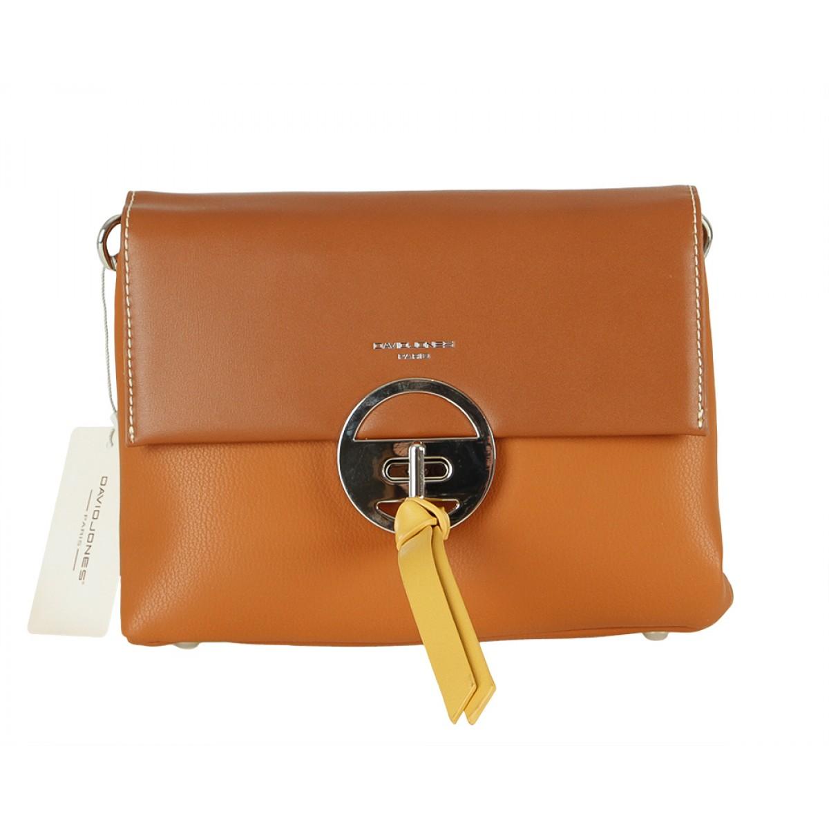 Жіноча сумка David Jones 6213-1 COGNAC
