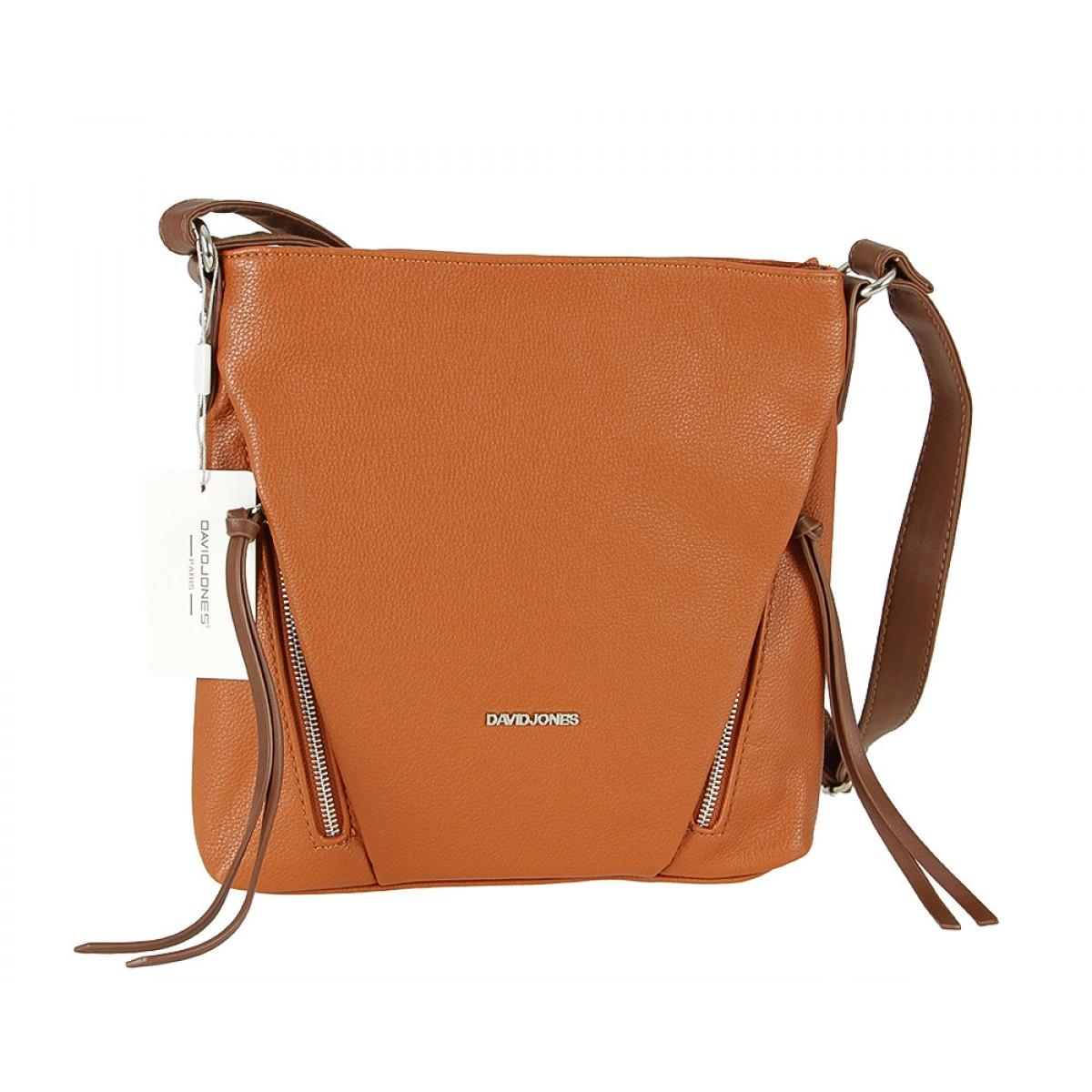 Жіноча сумка David Jones 6218-1 COGNAC