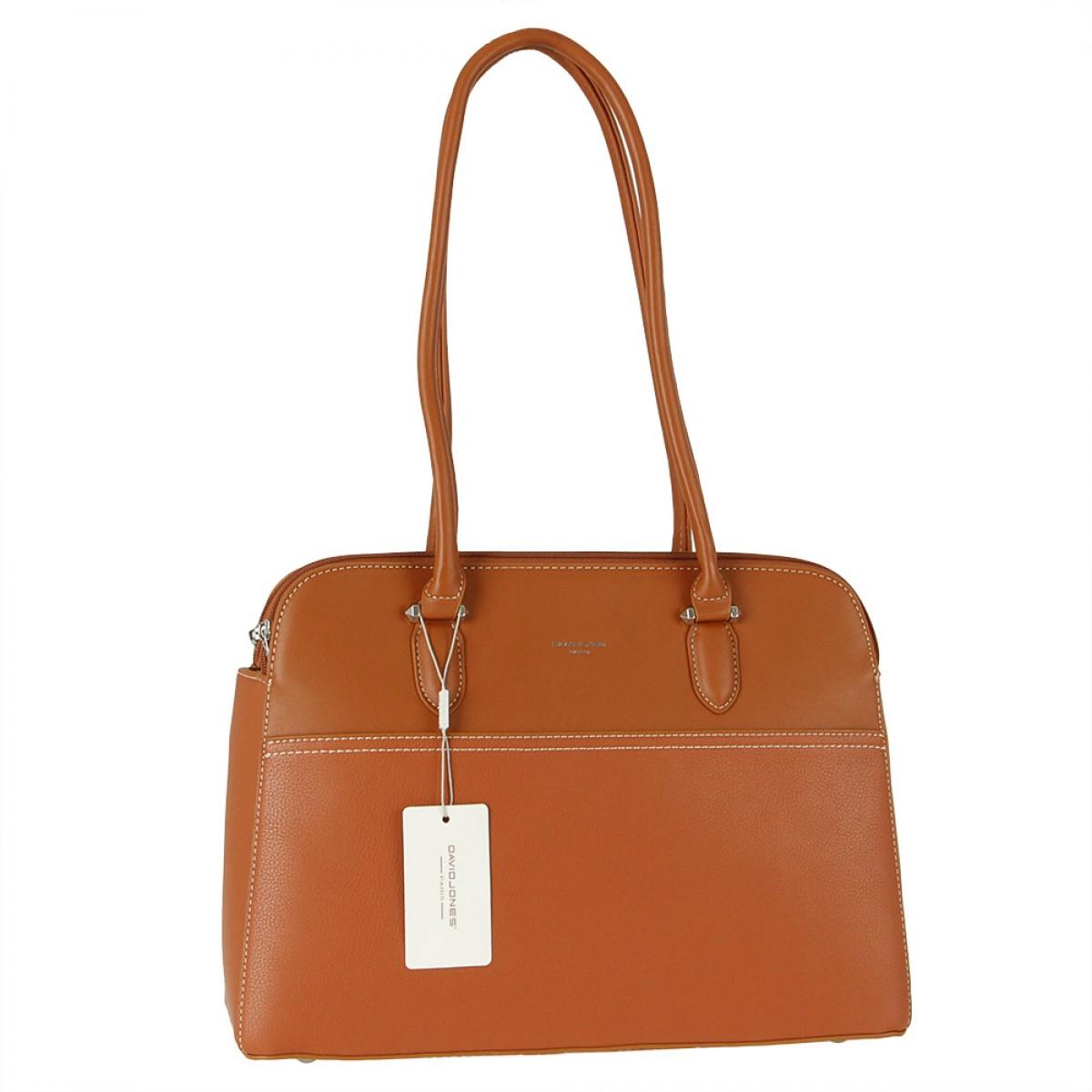 Жіноча сумка David Jones  6221-4 COGNAC