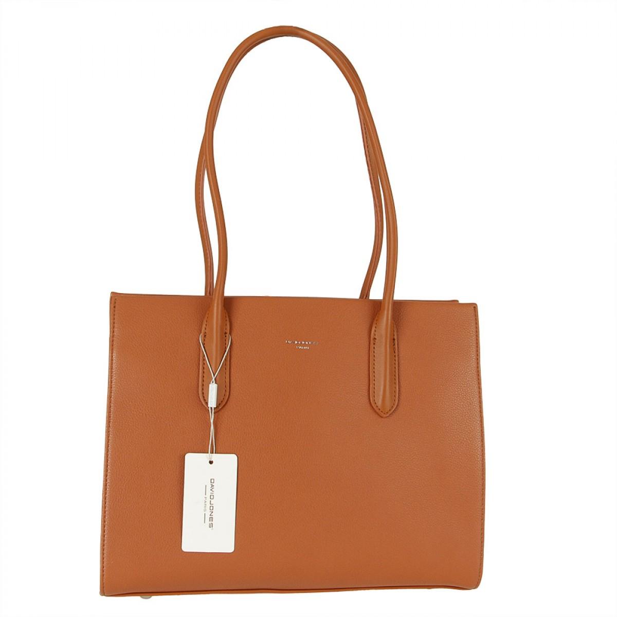 Жіноча сумка David Jones 6253-2 COGNAC