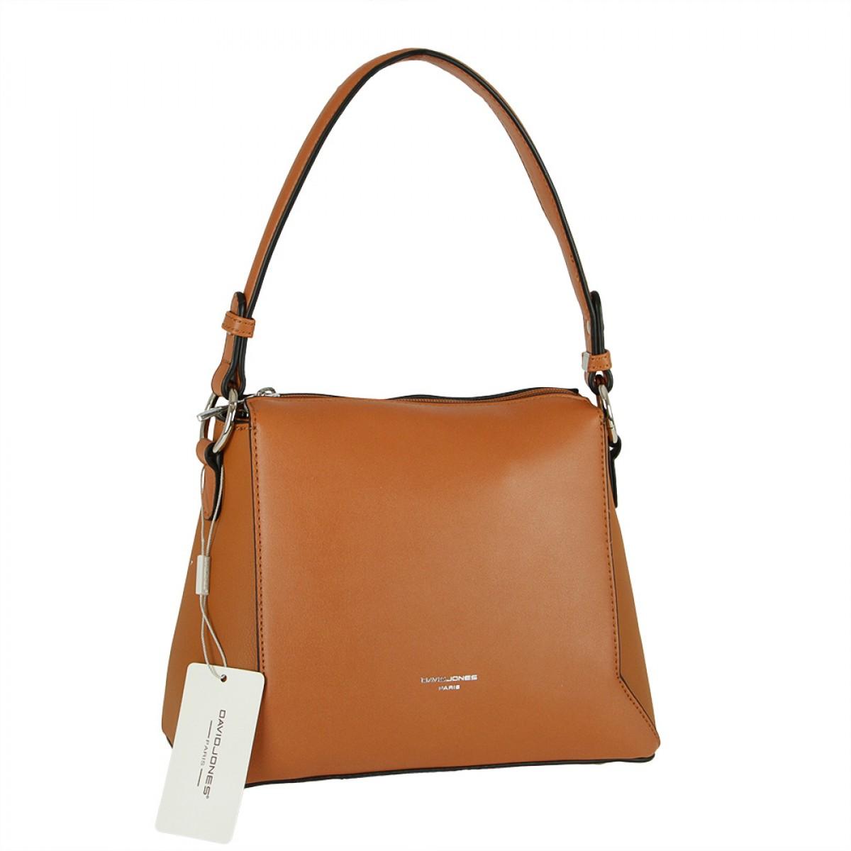 Жіноча сумка David Jones 6255-1 COGNAC