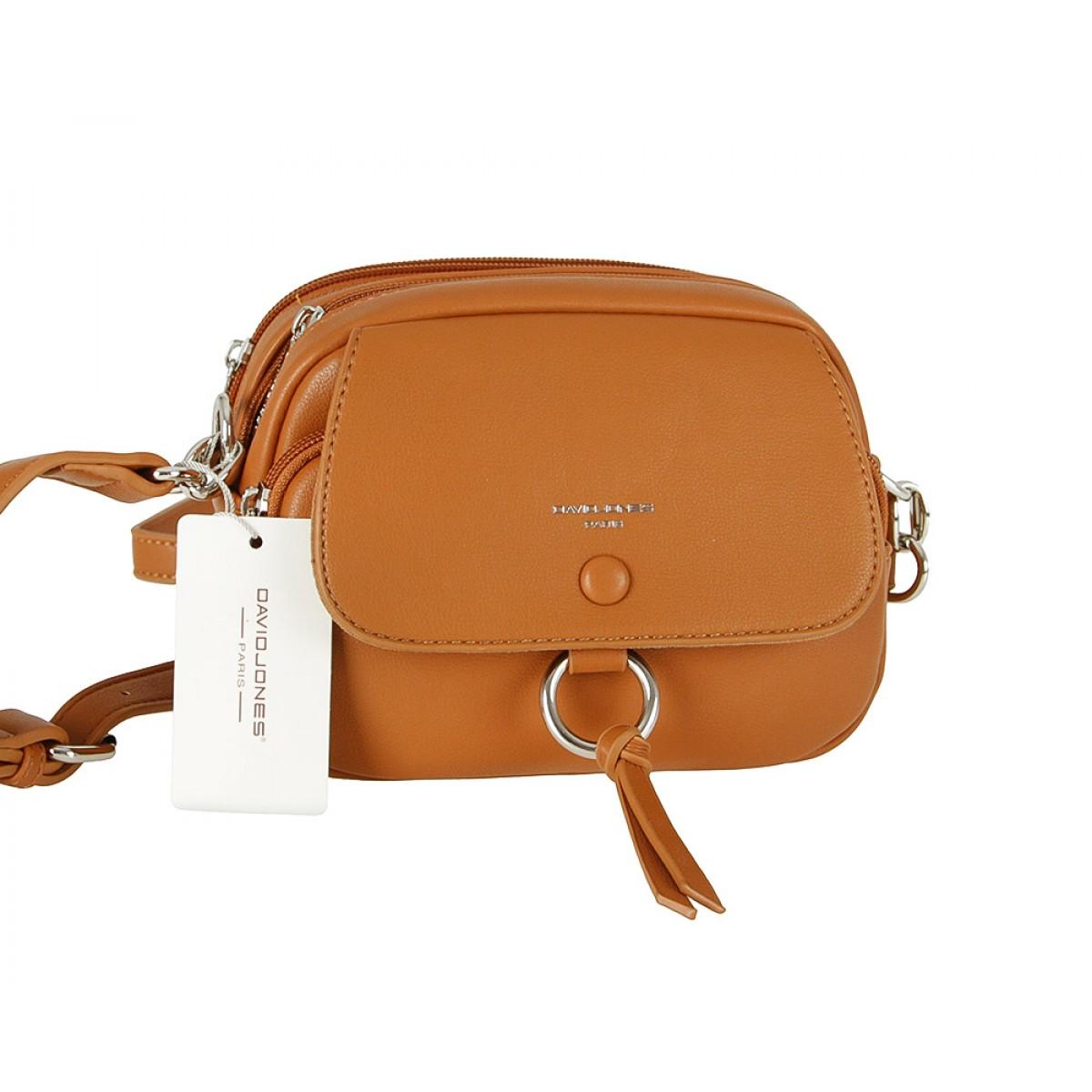 Жіноча сумка David Jones 6277-1 COGNAC