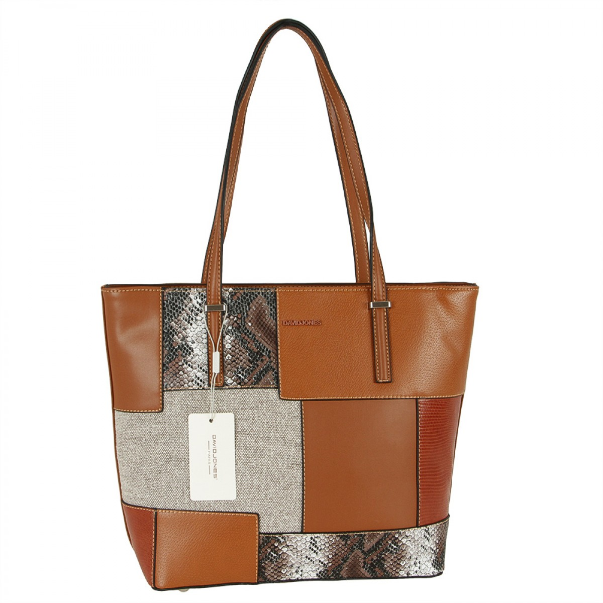Жіноча сумка David Jones 6279-2 COGNAC
