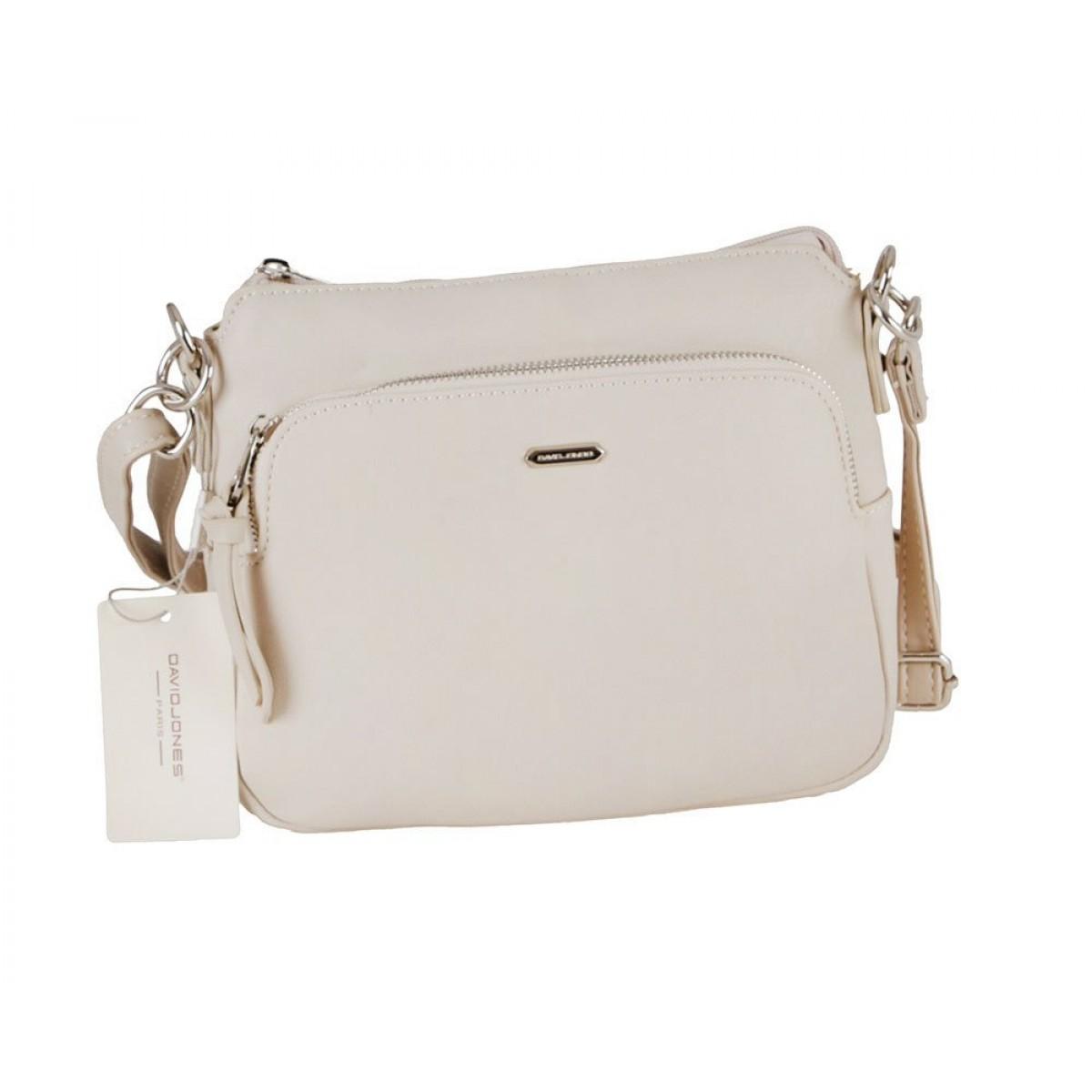 Жіноча сумка David Jones 6299-1 CREAMY WHITE
