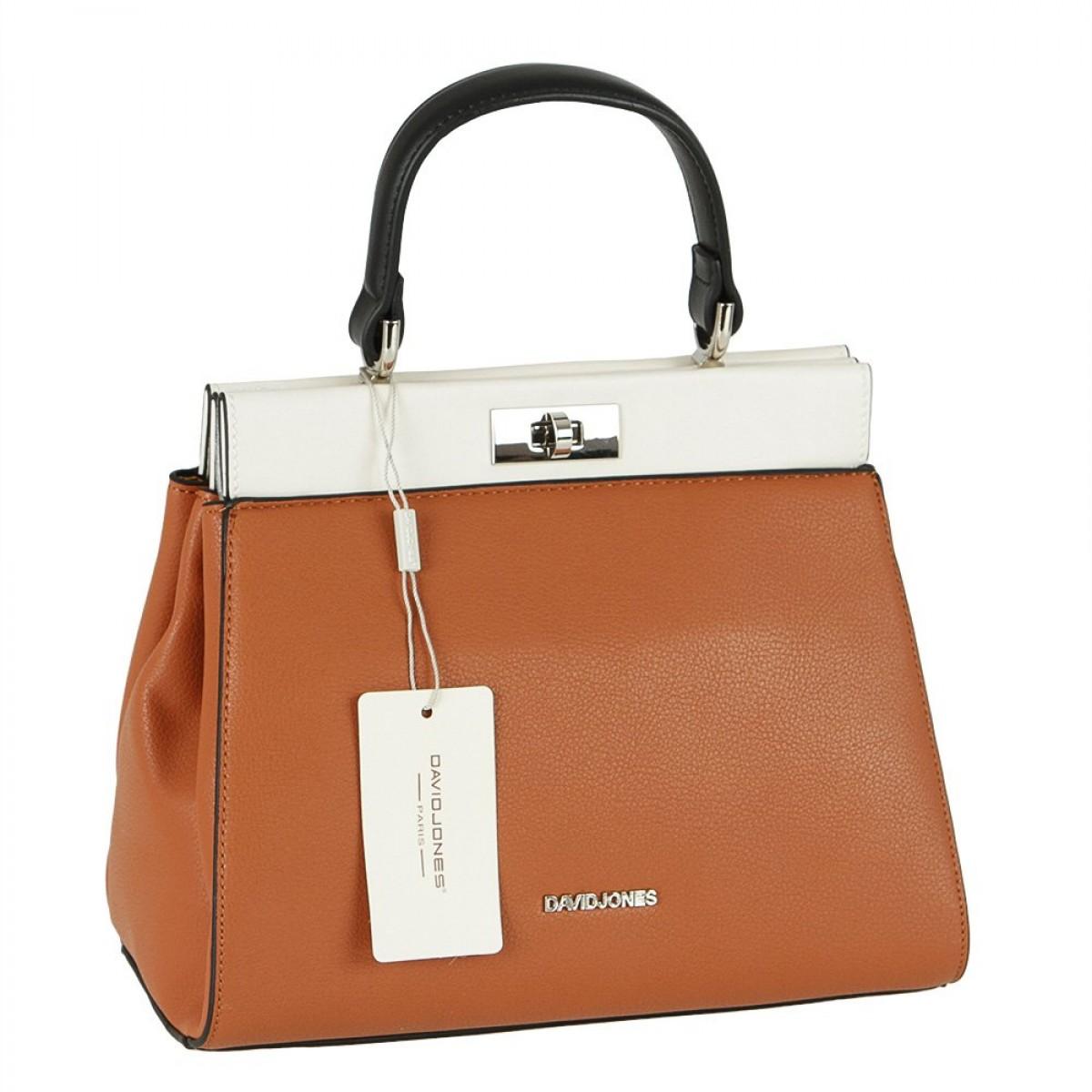 Жіноча сумка David Jones 6310-1 COGNAC