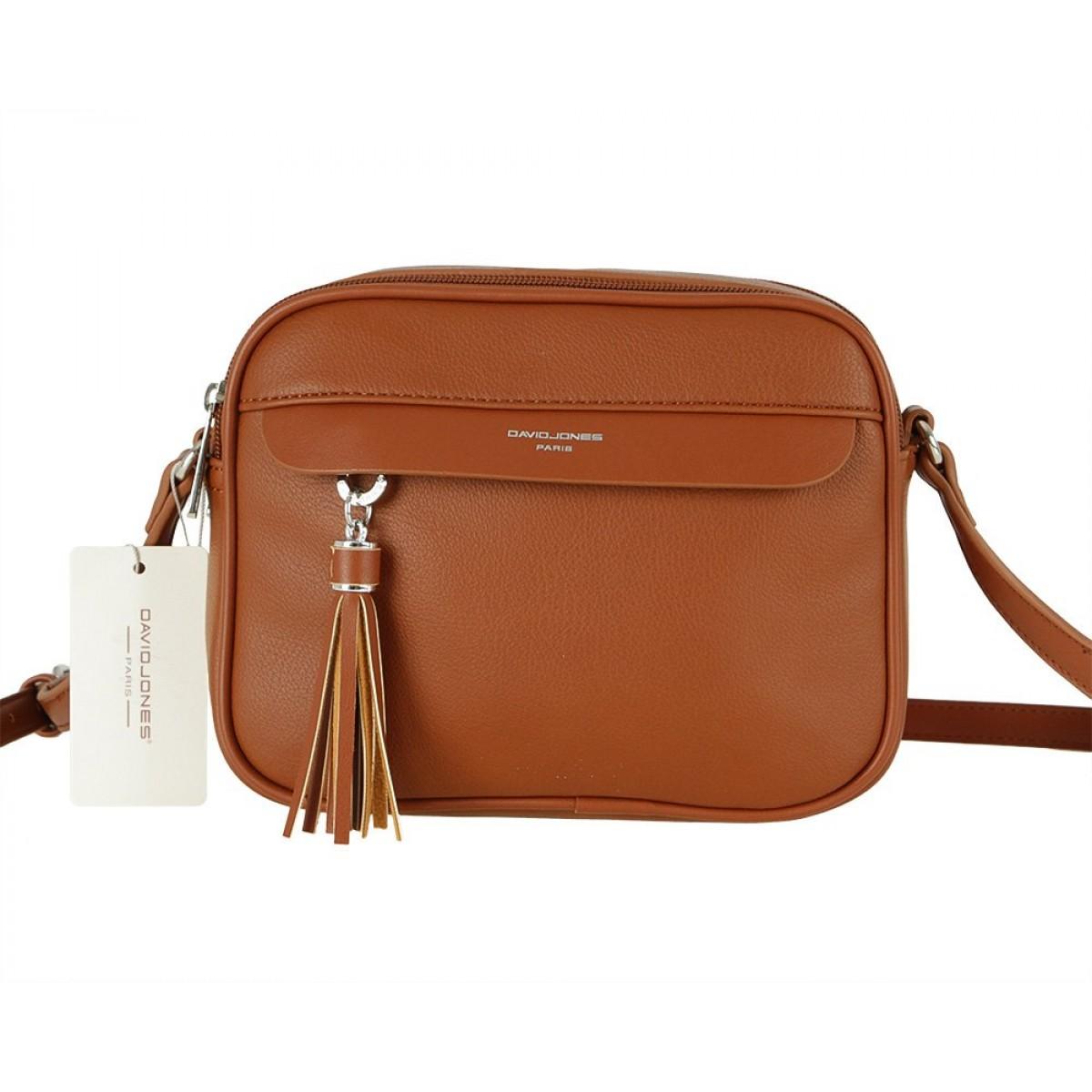 Жіноча сумка David Jones 6313-1 COGNAC