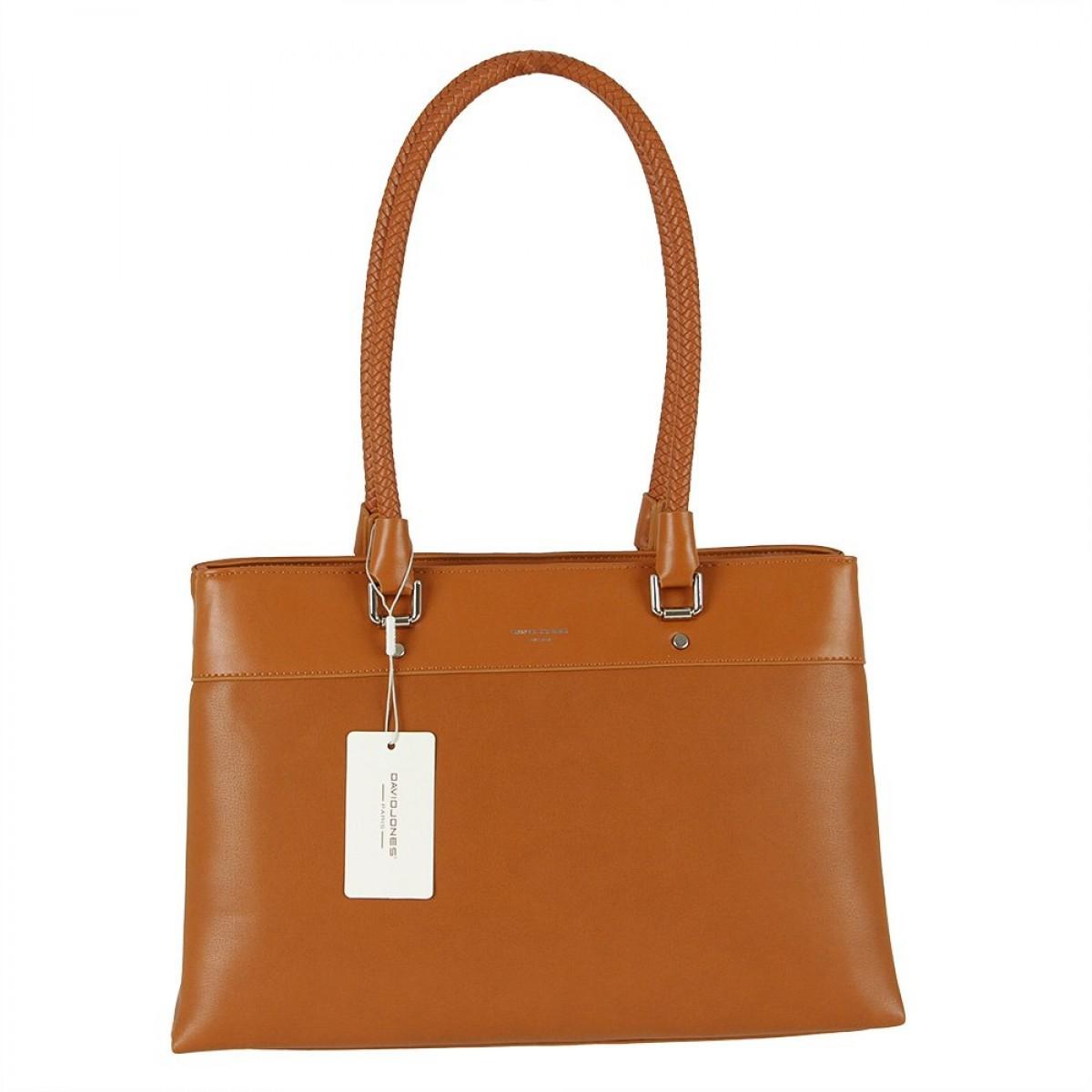 Жіноча сумка David Jones 6314-2 COGNAC