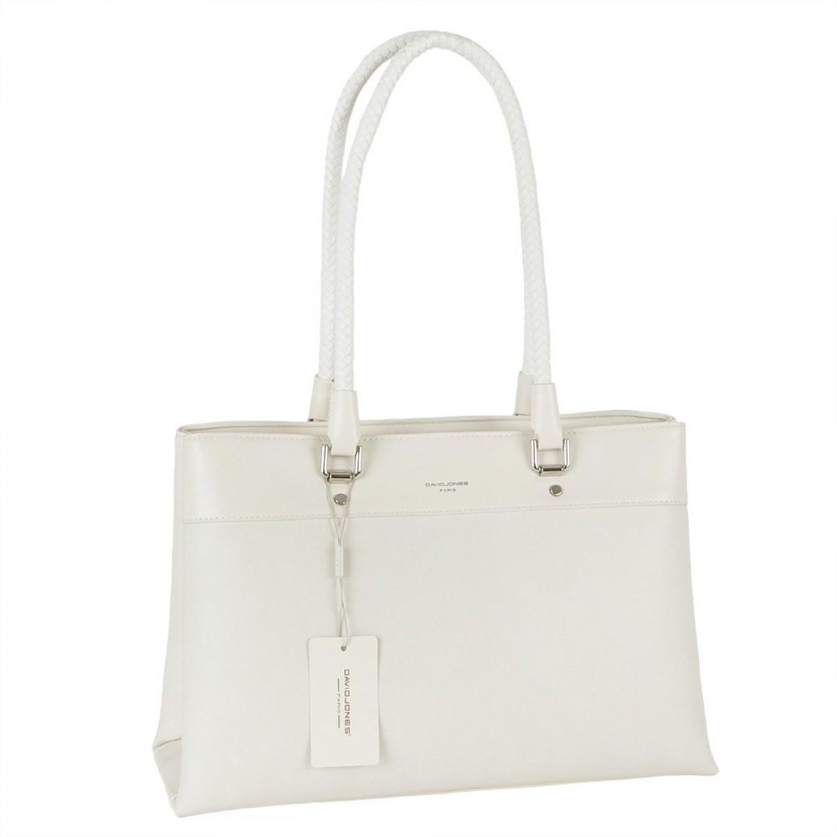 Жіноча сумка David Jones 6314-2 CREAMY WHITE