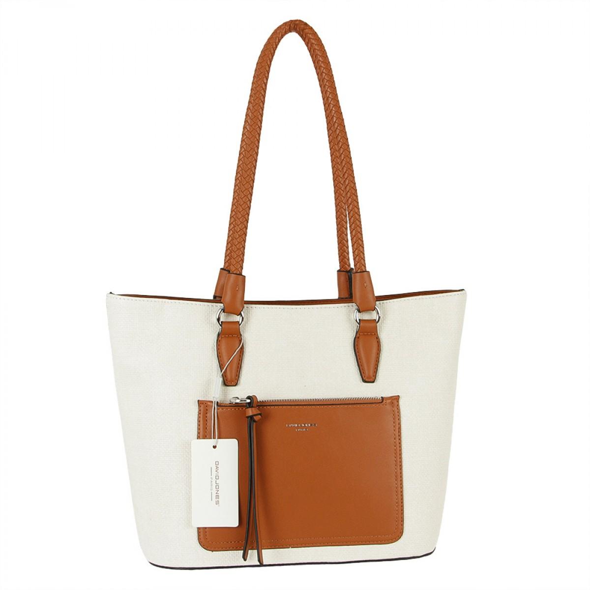 Жіноча сумка David Jones 6320-2 CREAMY WHITE