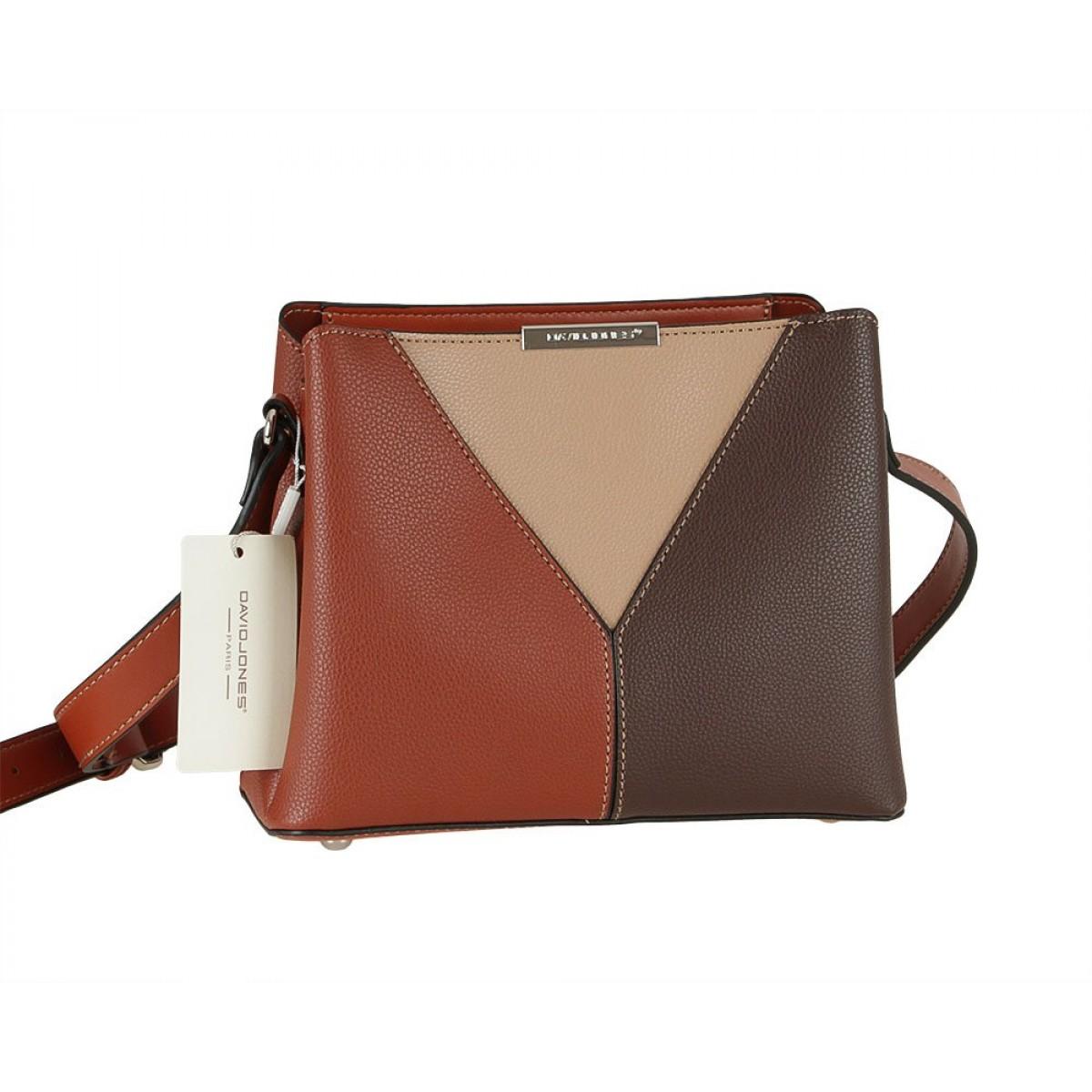 Жіноча сумка David Jones 6401-1 BROWN