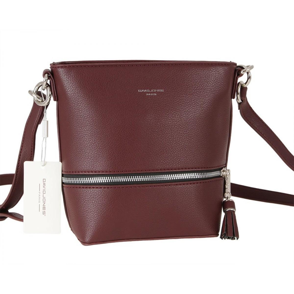 Жіноча сумка David Jones 6402-1 DARK BORDEAUX