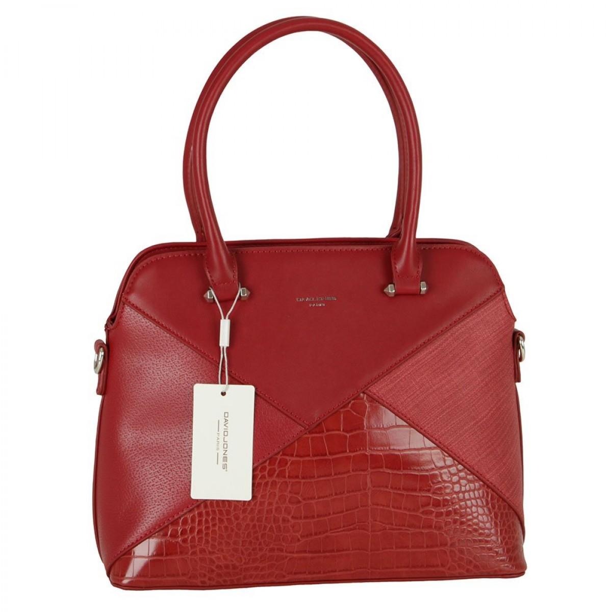 Жіноча сумка David Jones 6406-4 DARK RED