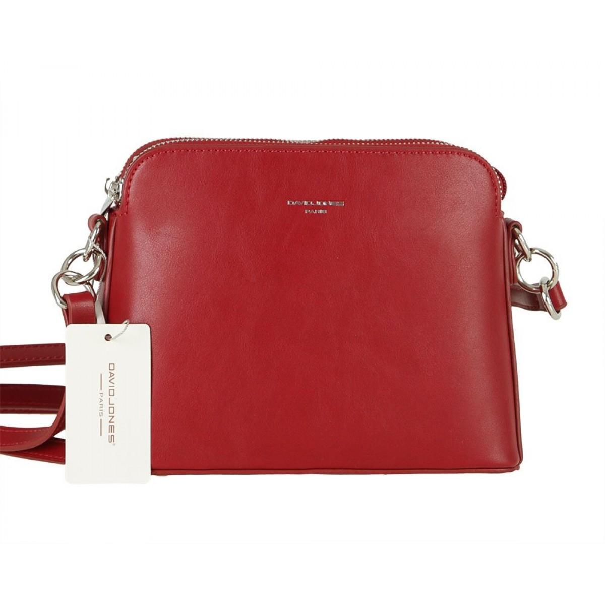 Жіноча сумка David Jones 6407-1 DARK RED