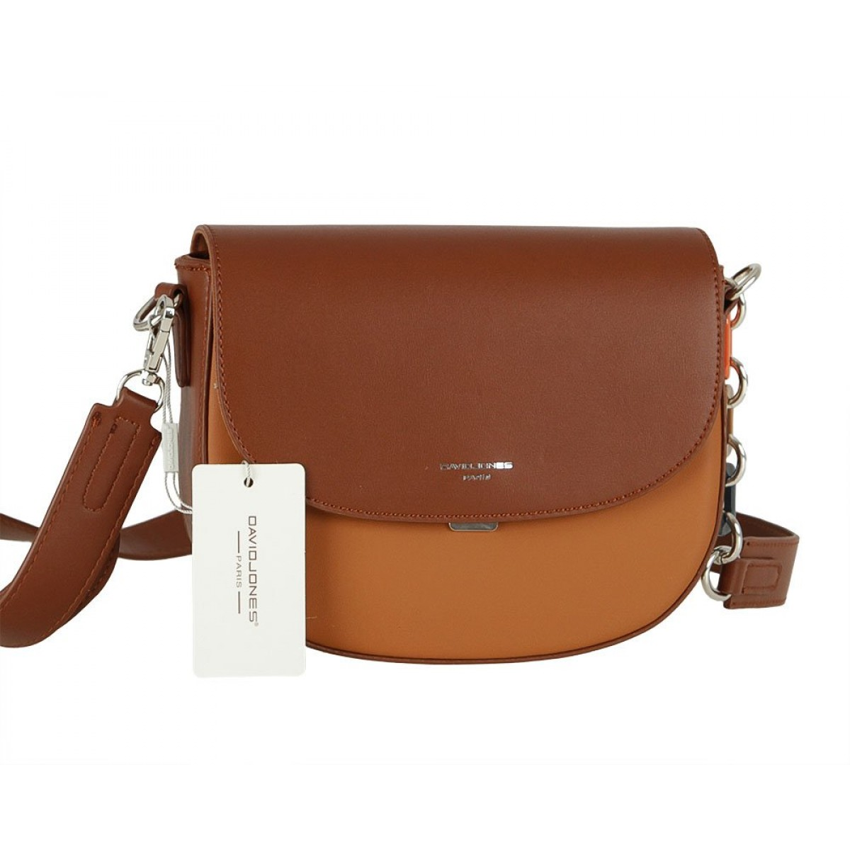 Жіноча сумка David Jones 6408-1 COGNAC