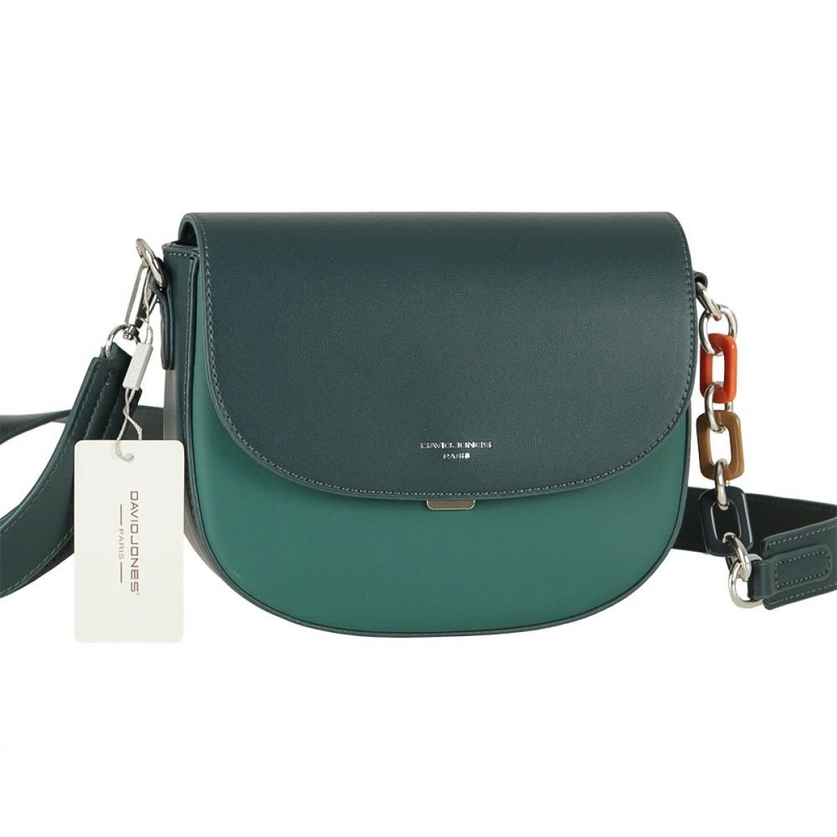 Жіноча сумка David Jones 6408-1 D. GREEN