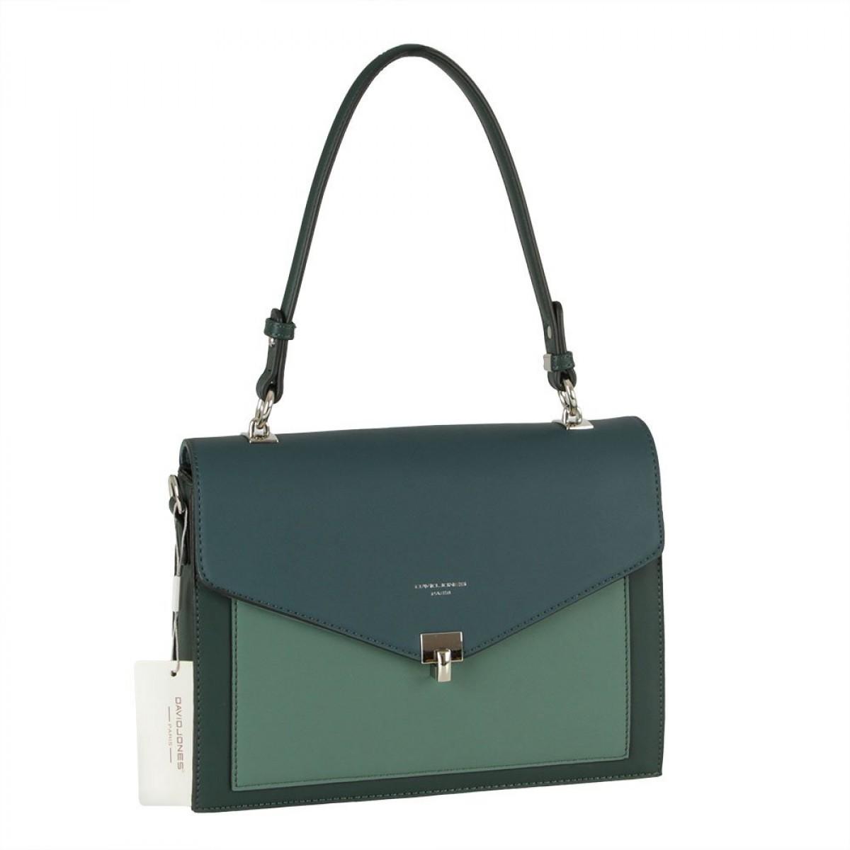 Жіноча сумка David Jones 6409-2 D.GREEN