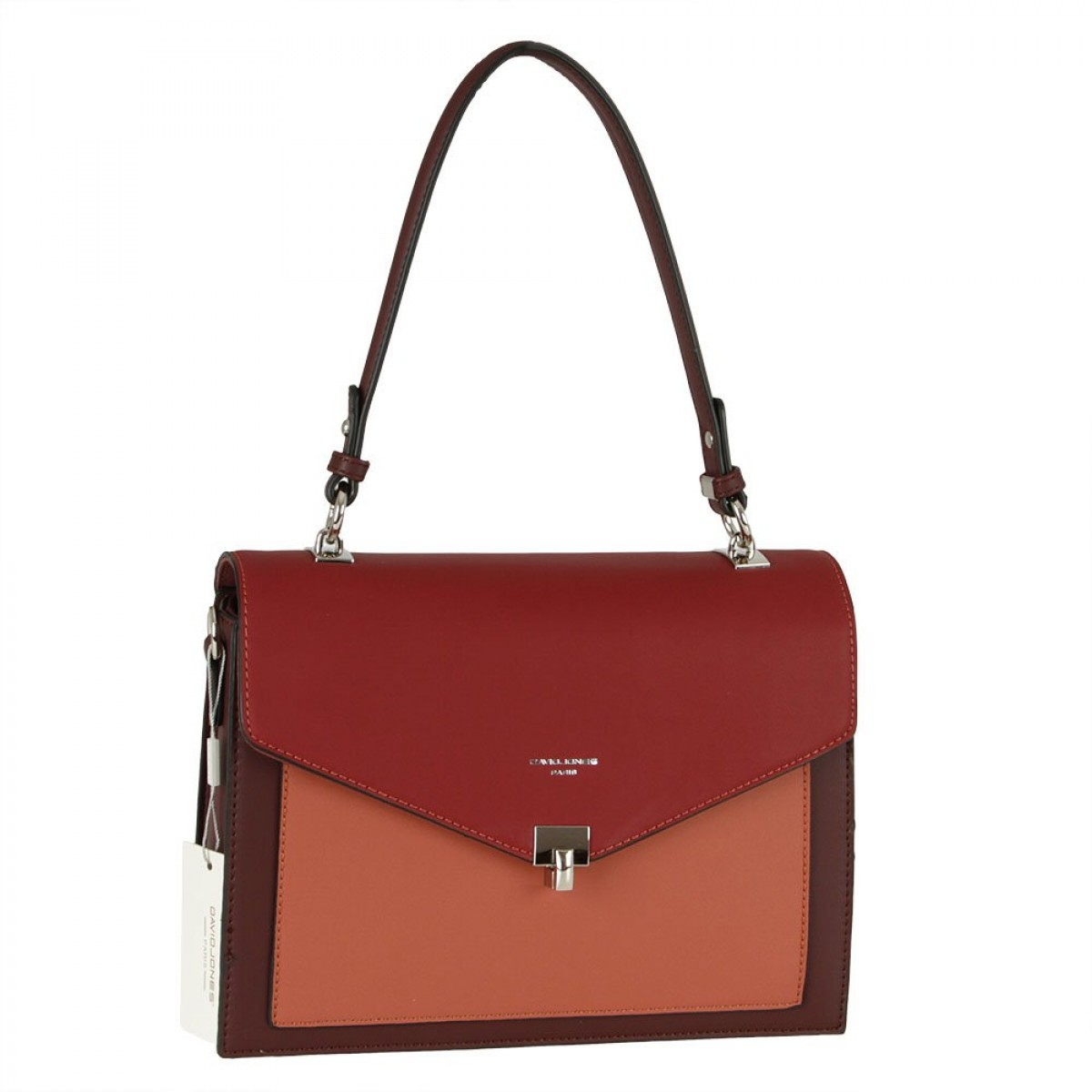 Жіноча сумка David Jones 6409-2 DARK BORDEAUX