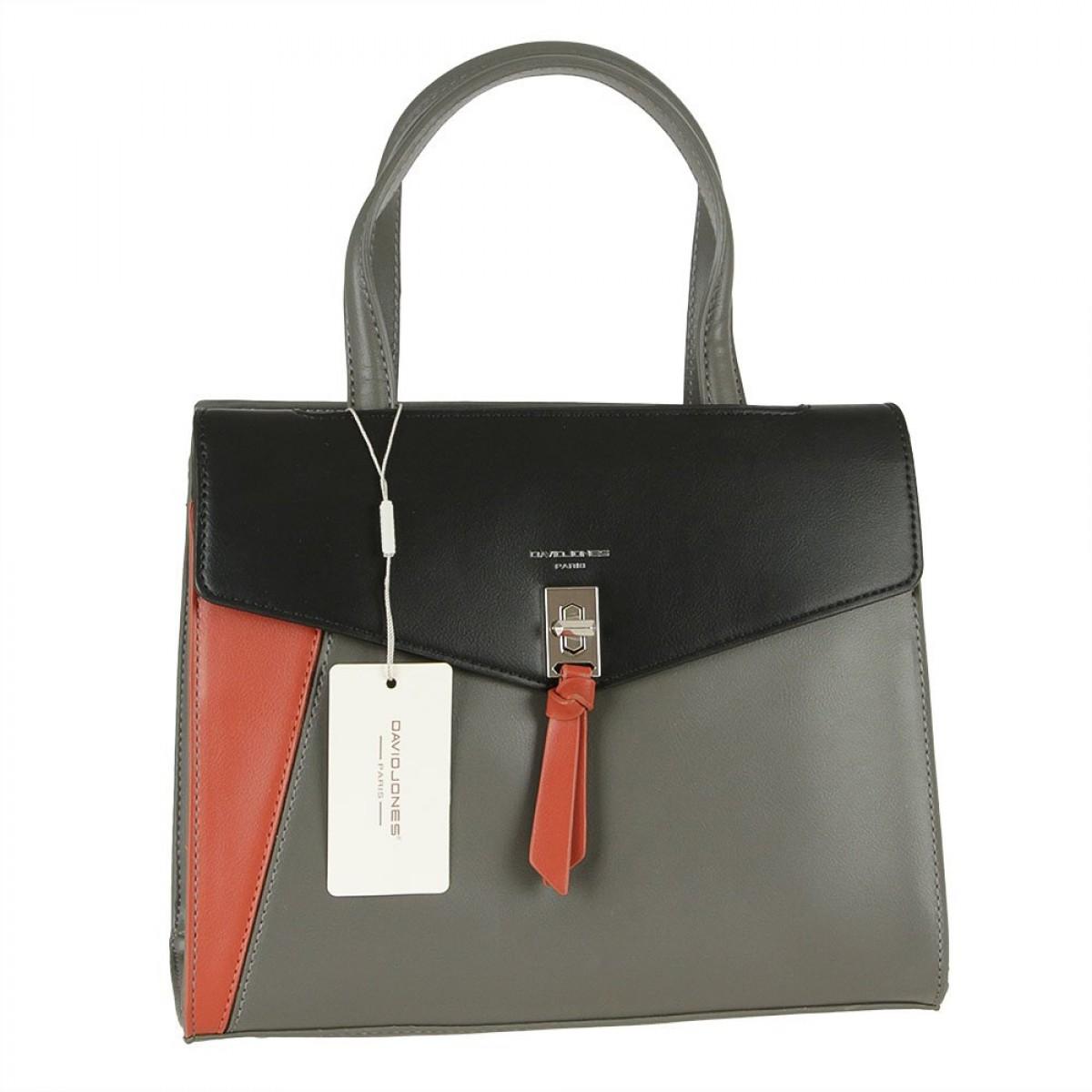 Жіноча сумка David Jones 6410-2 BLACK GREY