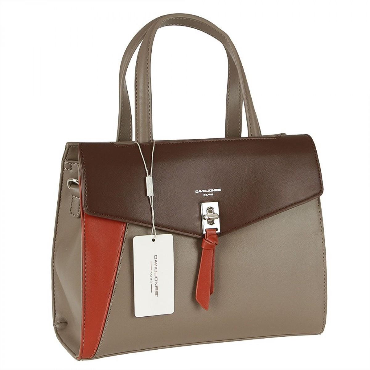 Жіноча сумка David Jones 6410-2 TAUPE