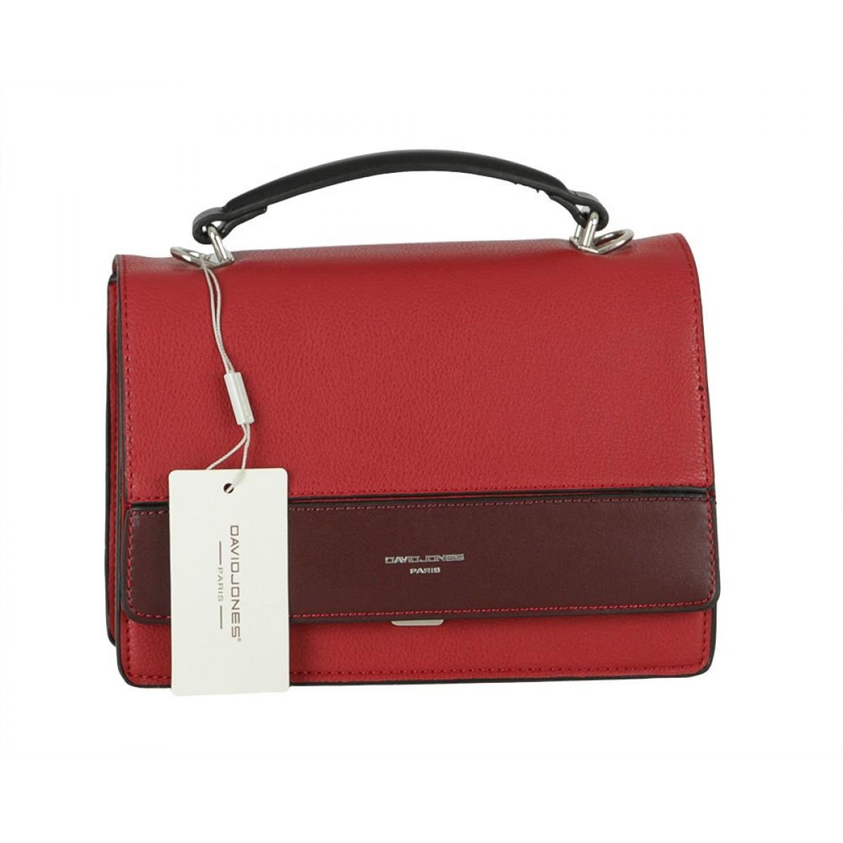 Жіноча сумка David Jones 6413-1 DARK RED