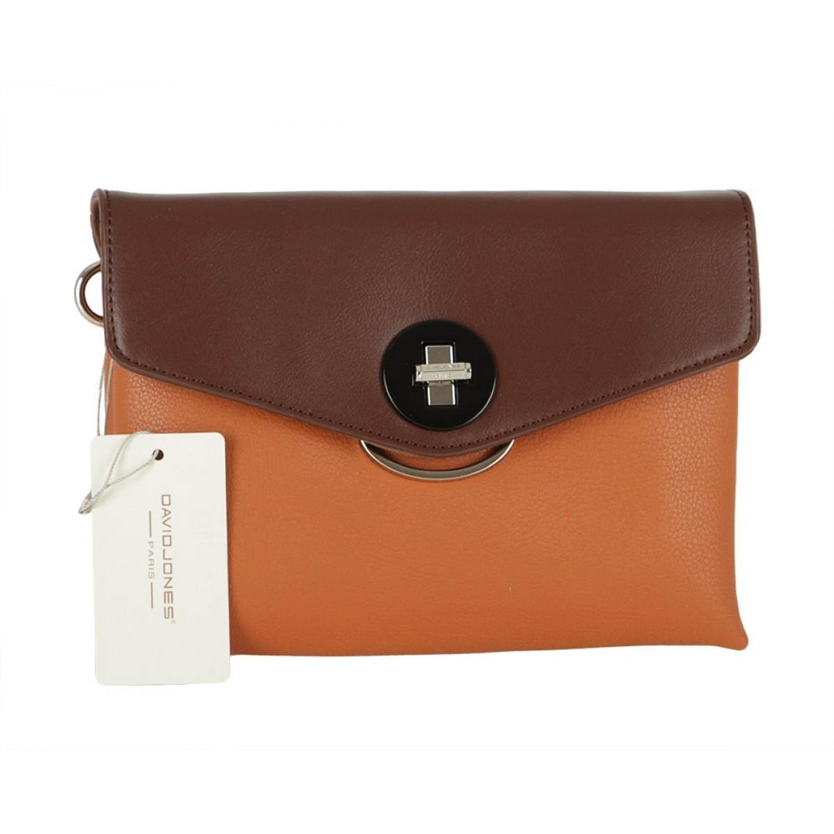 Жіноча сумка David Jones 6414-1 COGNAC