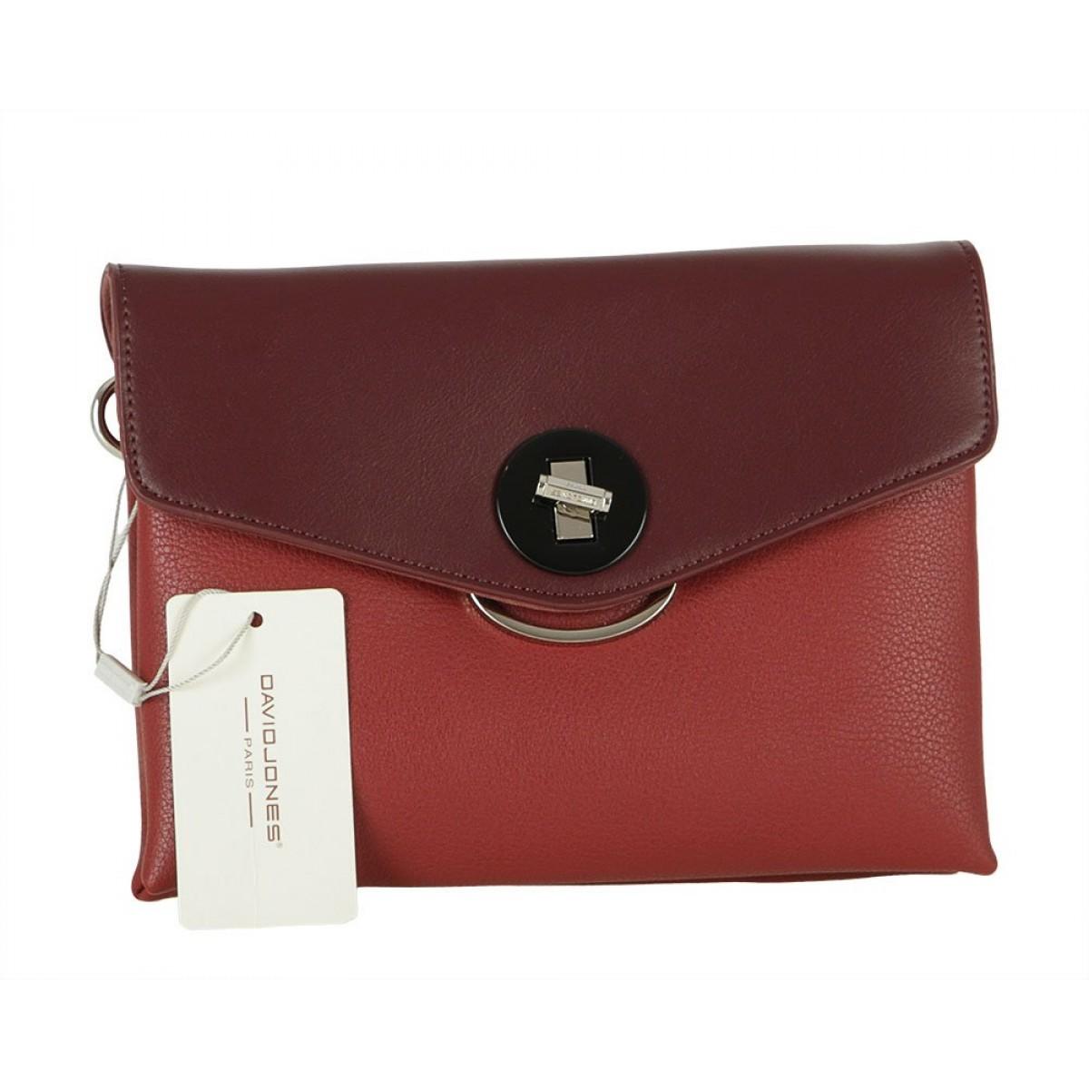 Жіноча сумка David Jones 6414-1 DARK RED