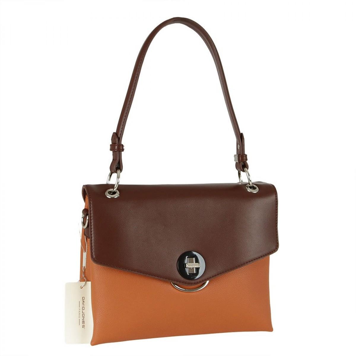 Жіноча сумка David Jones 6414-2 COGNAC