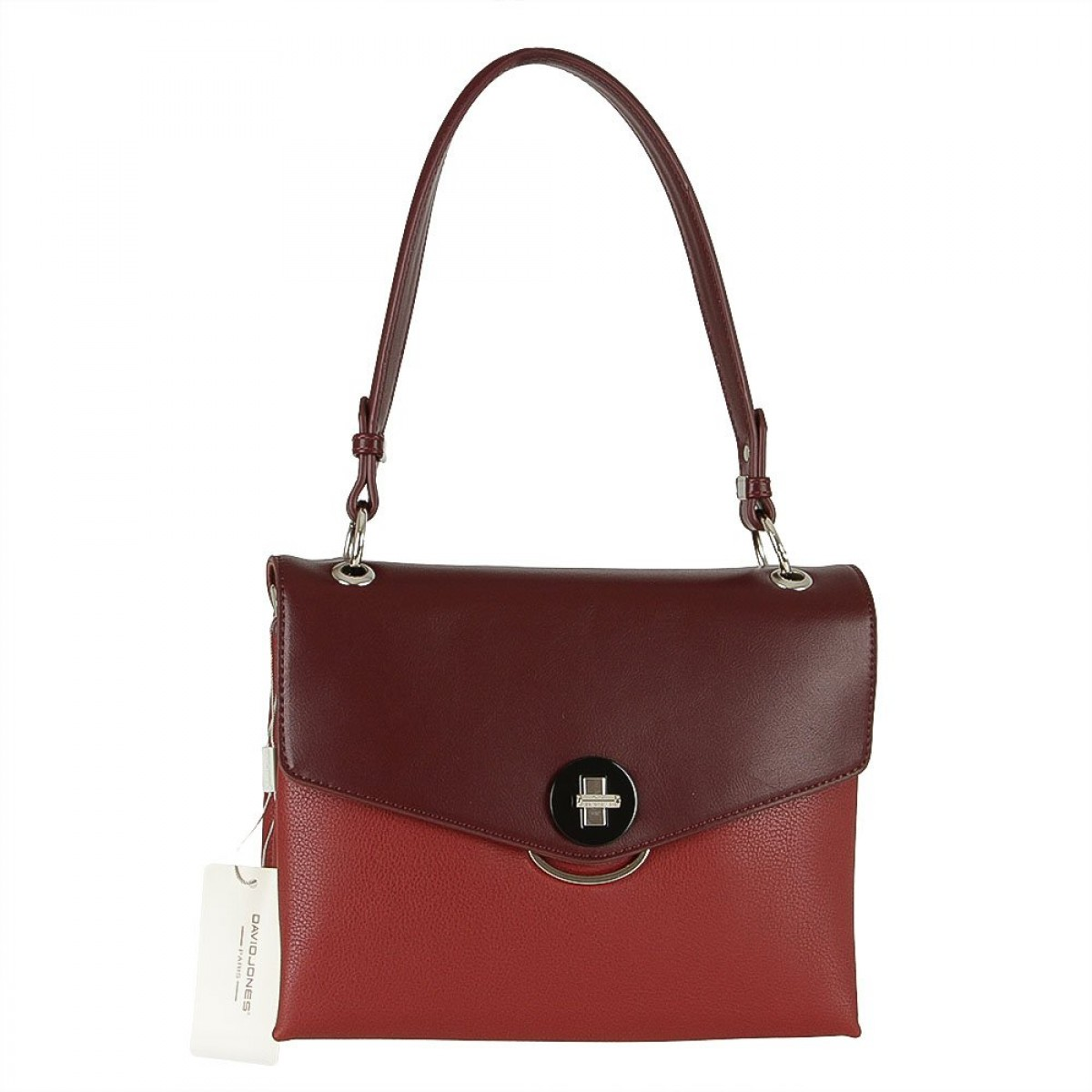 Жіноча сумка David Jones 6414-2 DARK RED