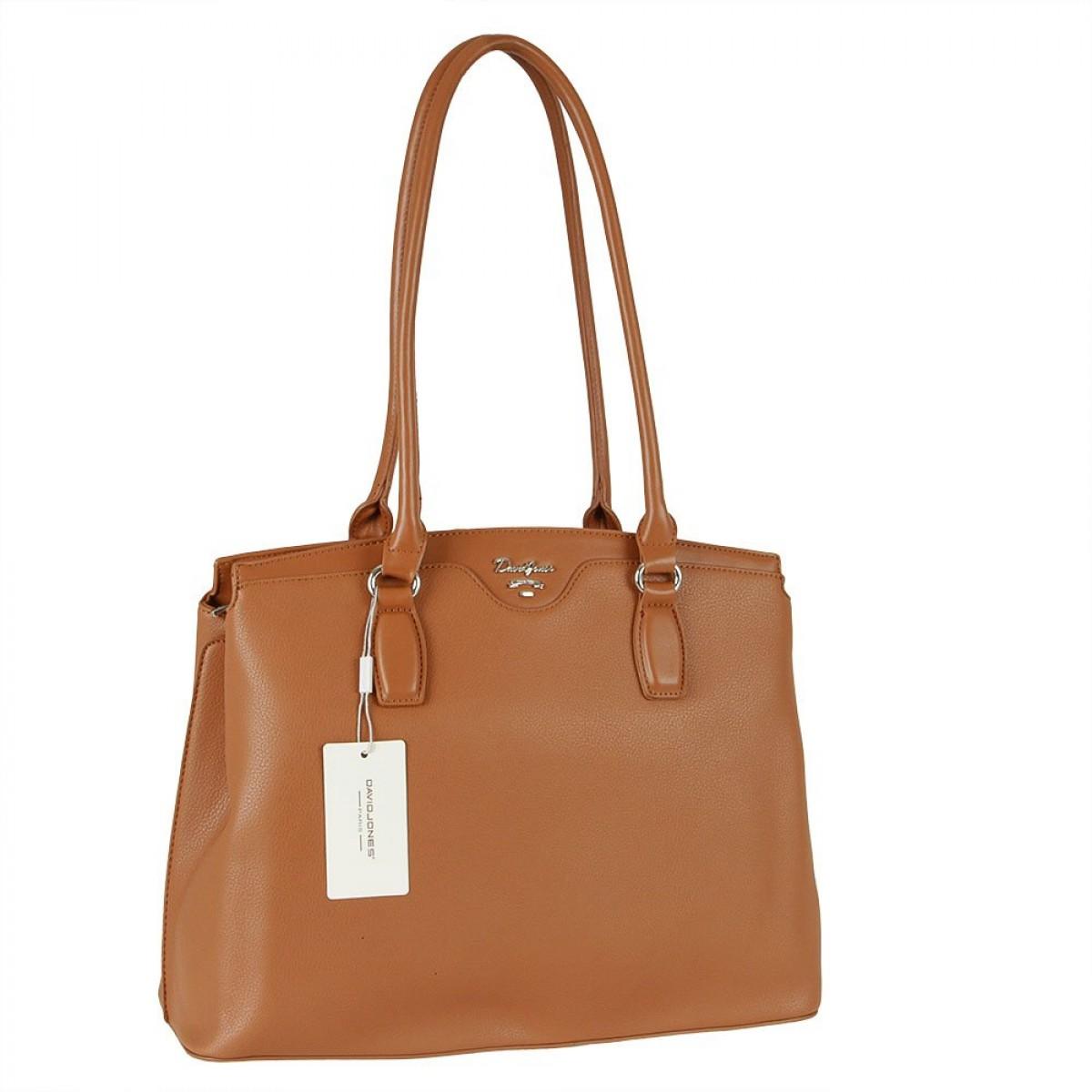 Жіноча сумка David Jones 6416-2 COGNAC